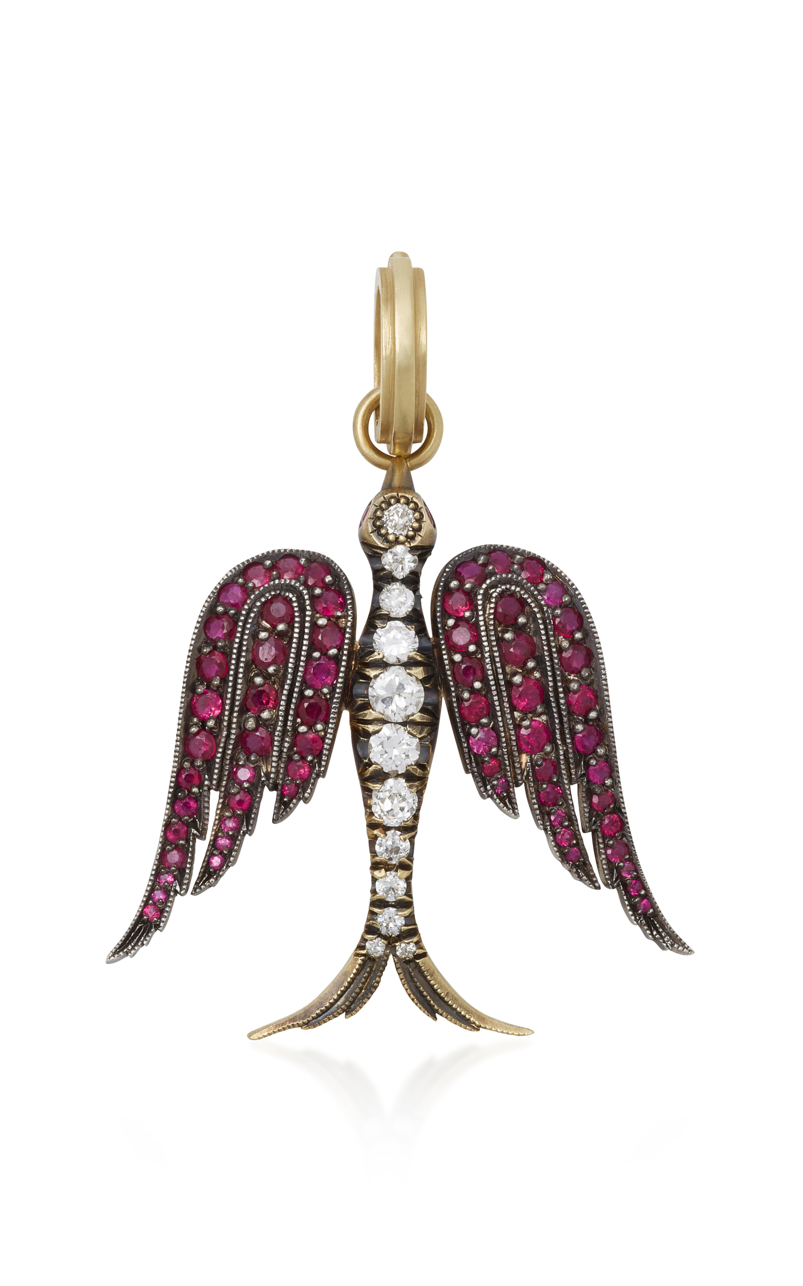diamonds bird pendant angel large loading rubies gemfields with white red by and cie sylva