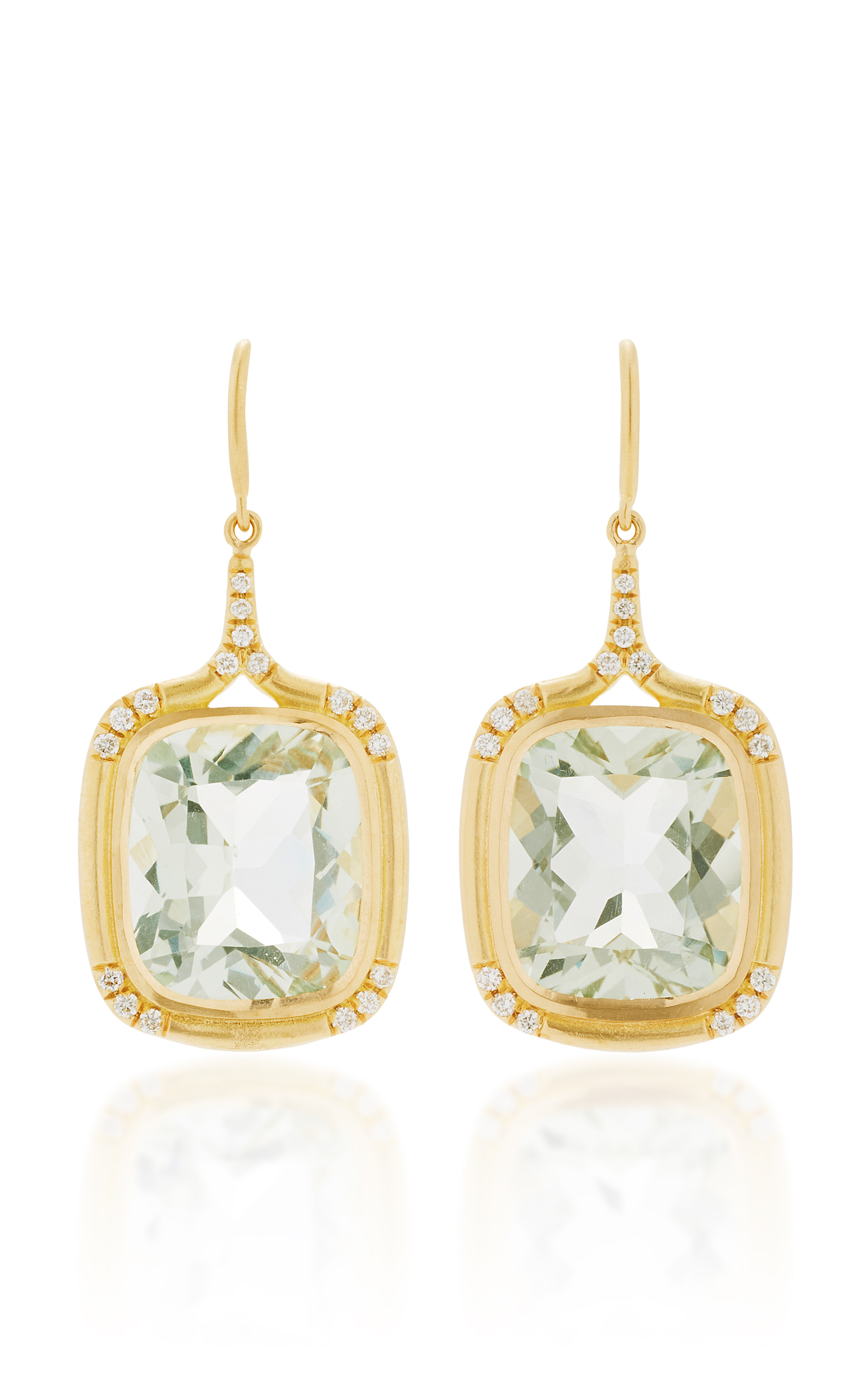 Jamie Wolf Cushion-Cut Green Amethyst Drop Earrings with Diamonds S05Okm7V3