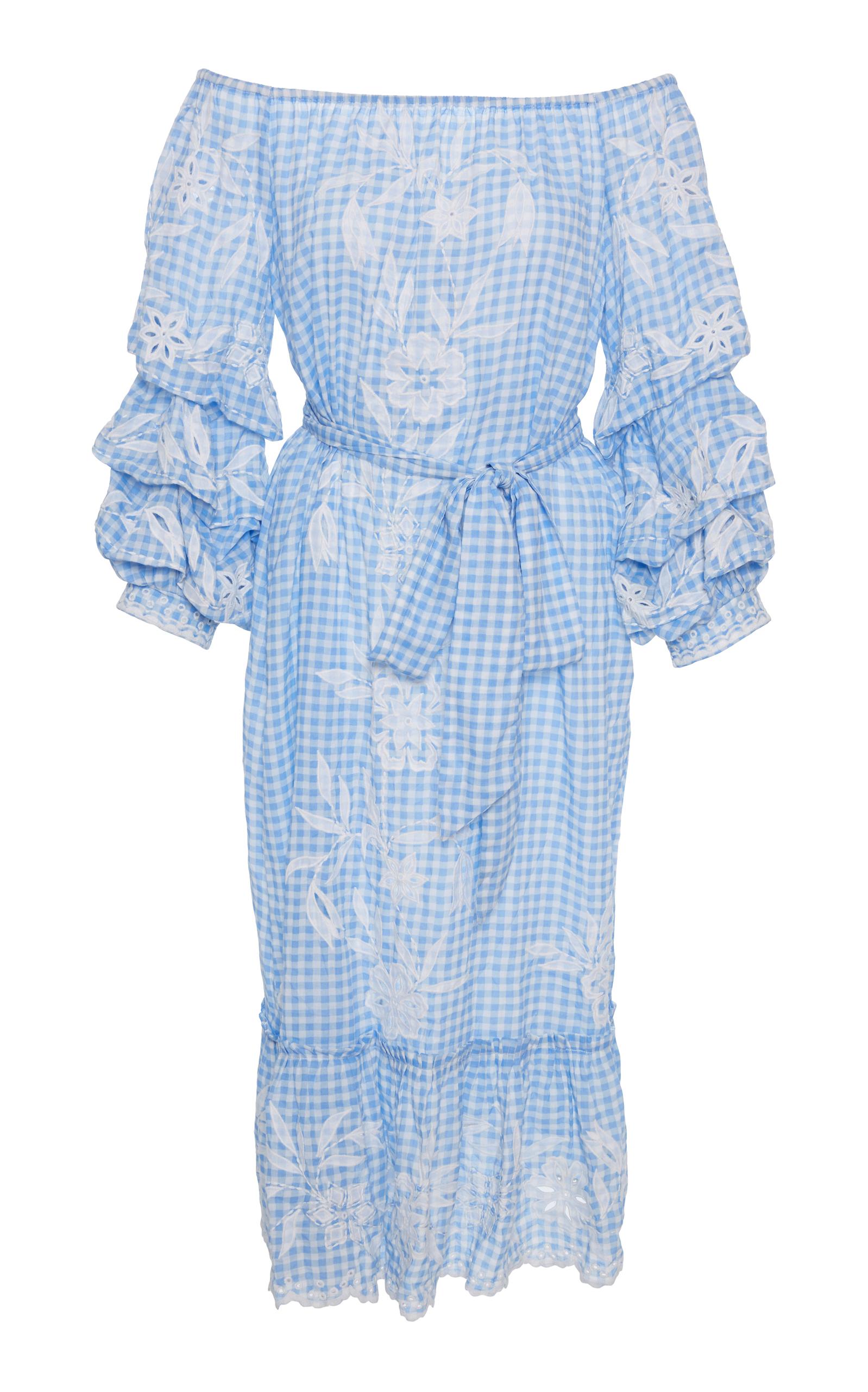 1cb7573a90 Juliet DunnPuff Sleeve Flower Embroidered Dress. CLOSE. Loading. Loading.  Loading. Loading