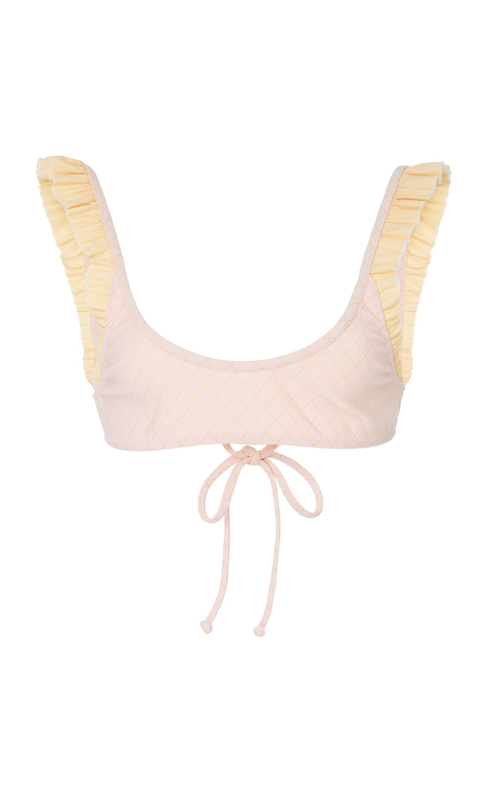 Petal 2 Jacquard Diamond Bikini Top Made By Dawn Clearance View pzVfgW