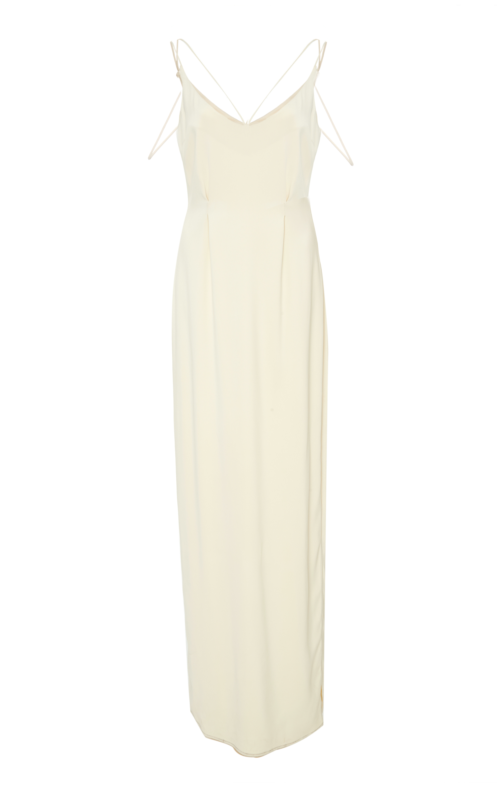 HENSELY Shoulder Strap Column Dress in White