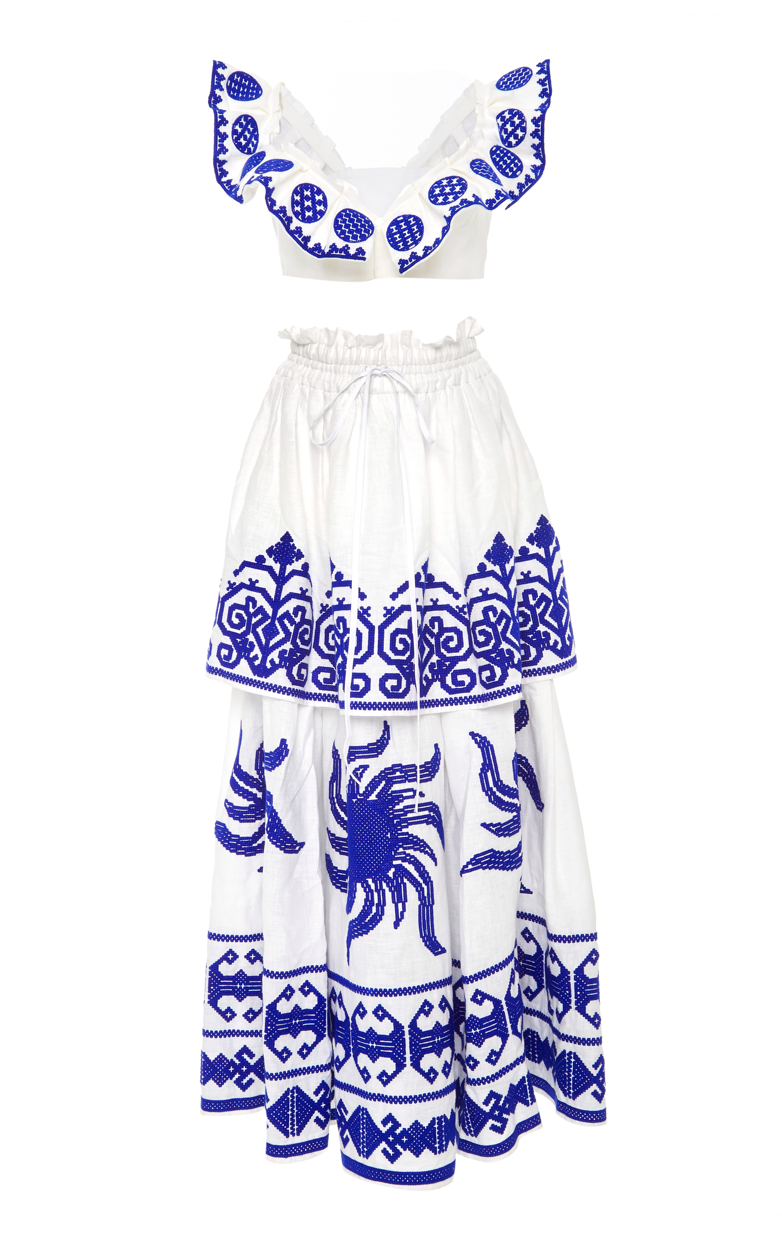 Yuliya Magdych Tops QUEEN OF THE SUN TOP AND SKIRT SET