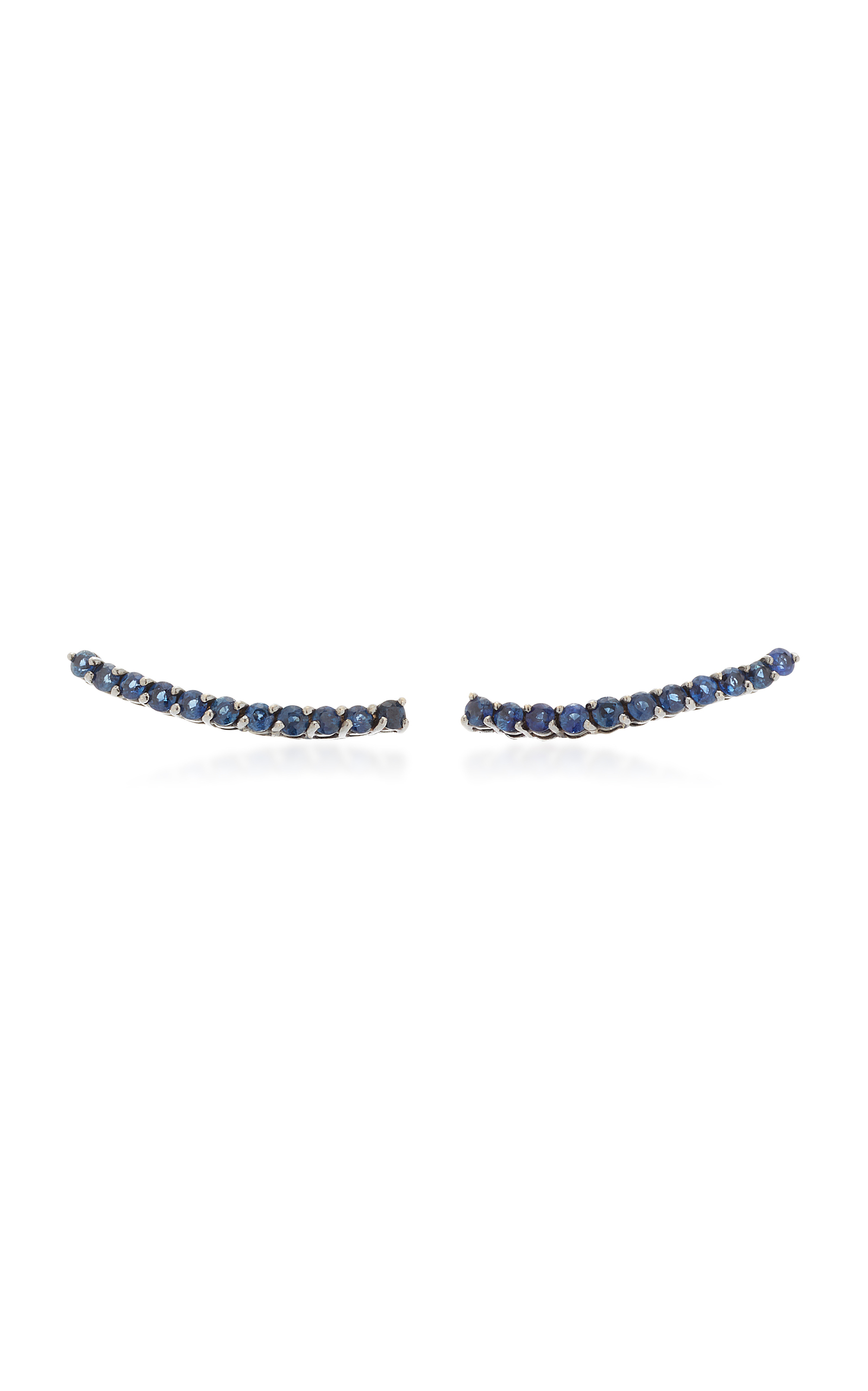 JACK VARTANIAN 18K White Gold And Black Rhodium Sapphire Earrings in Blue