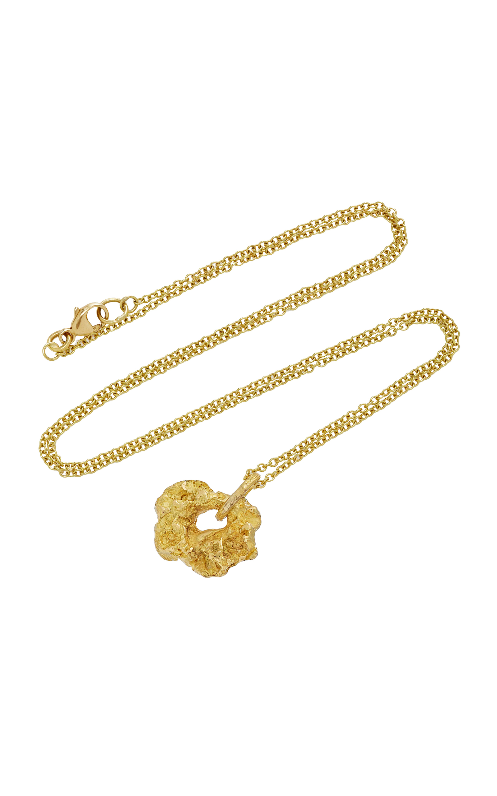gripoix plated brass loading multi glass pendant byzantine long and gold large signet chain poured necklace