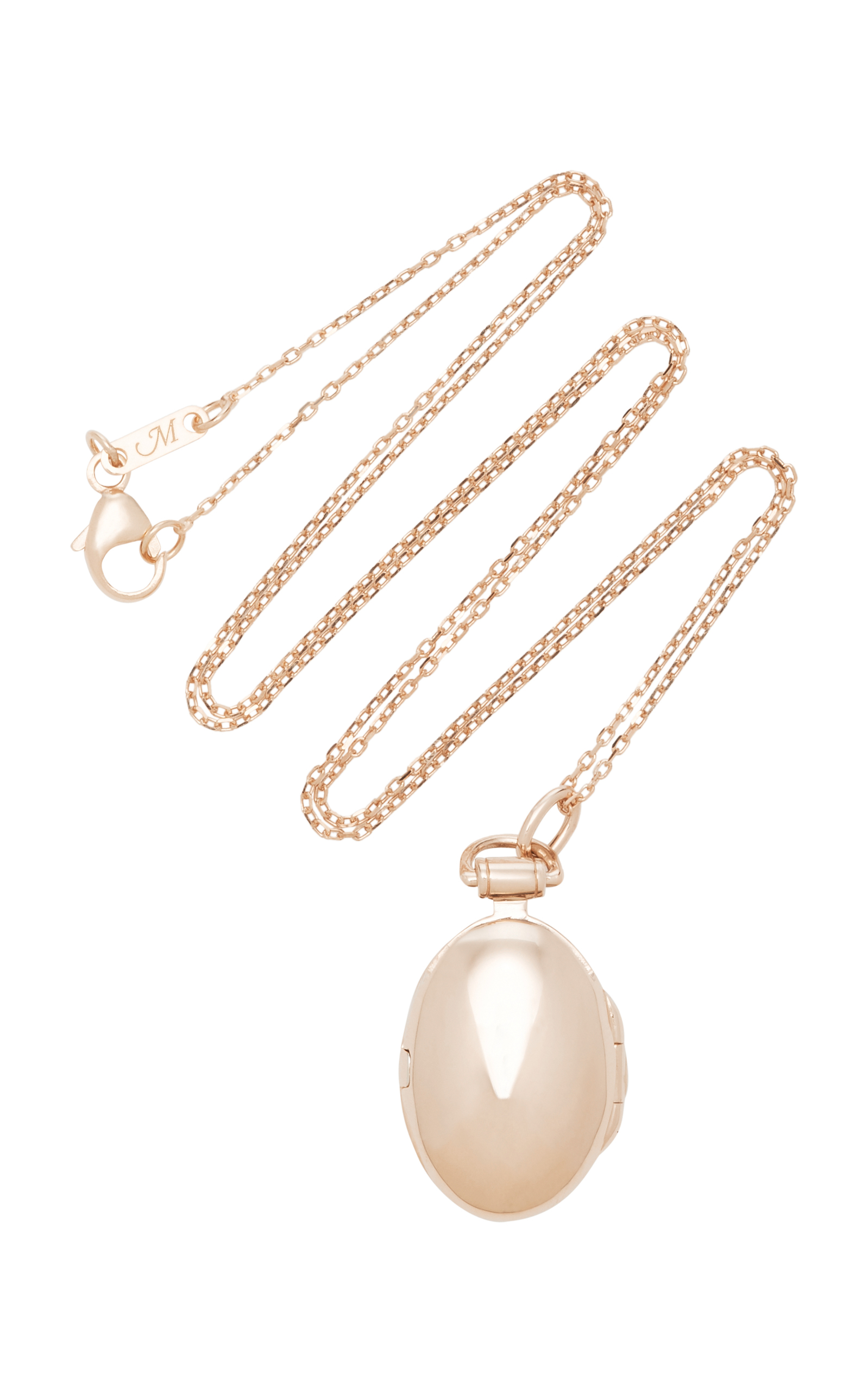 Anna 18K Rose Gold Locket Necklace by Monica Rich Kosann Moda Operandi