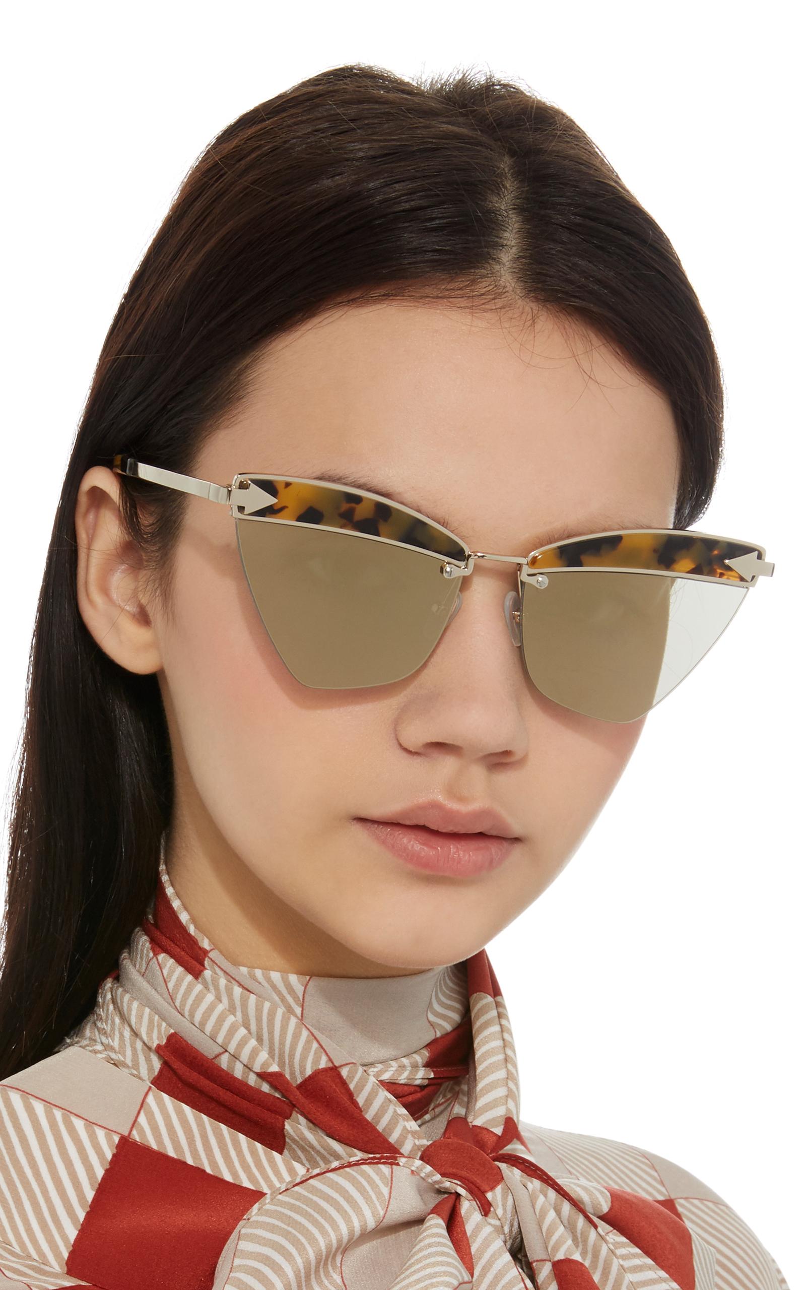 6ca4f1079893 Karen WalkerSadie Cat-Eye Acetate and Metal Sunglasses. CLOSE. Loading