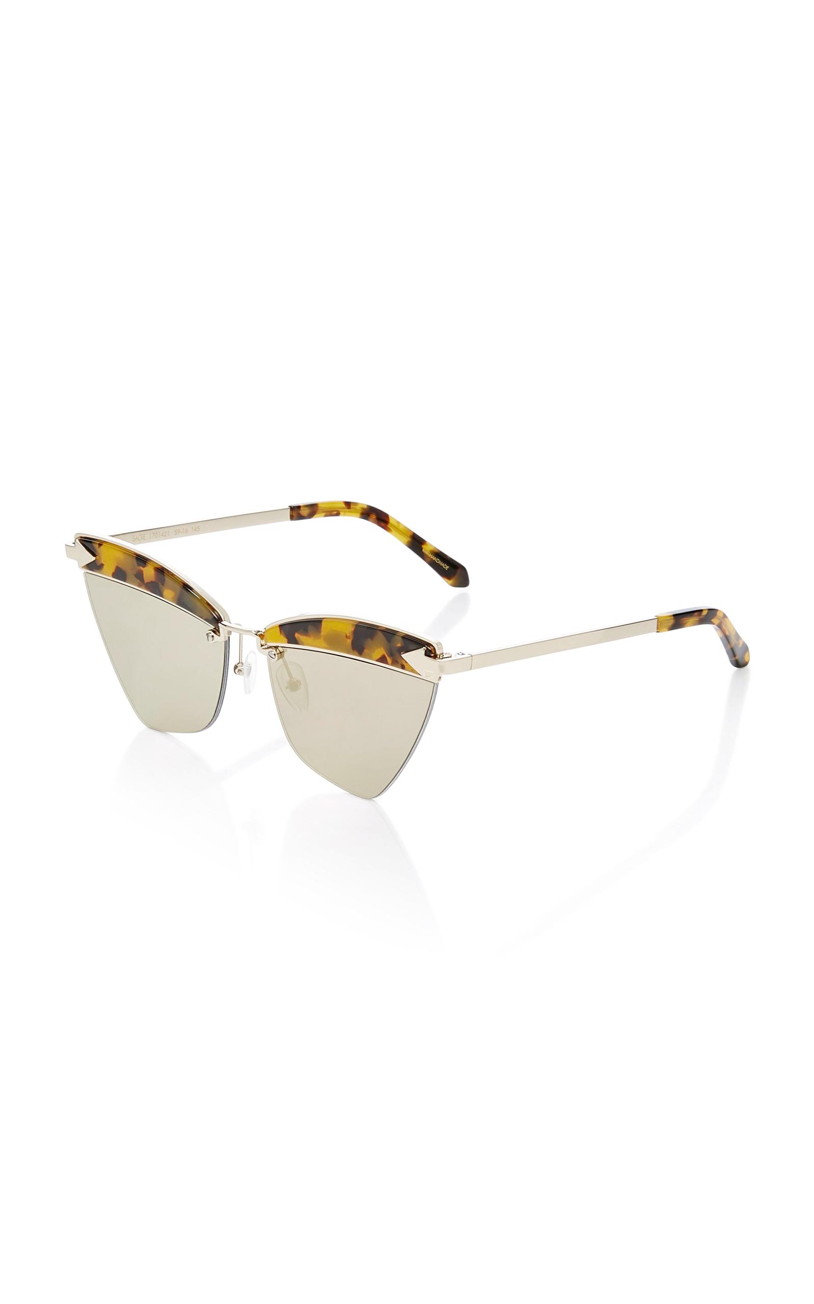 09eaa77a0a67 Karen WalkerSadie Cat-Eye Acetate and Metal Sunglasses. CLOSE. Loading.  Loading