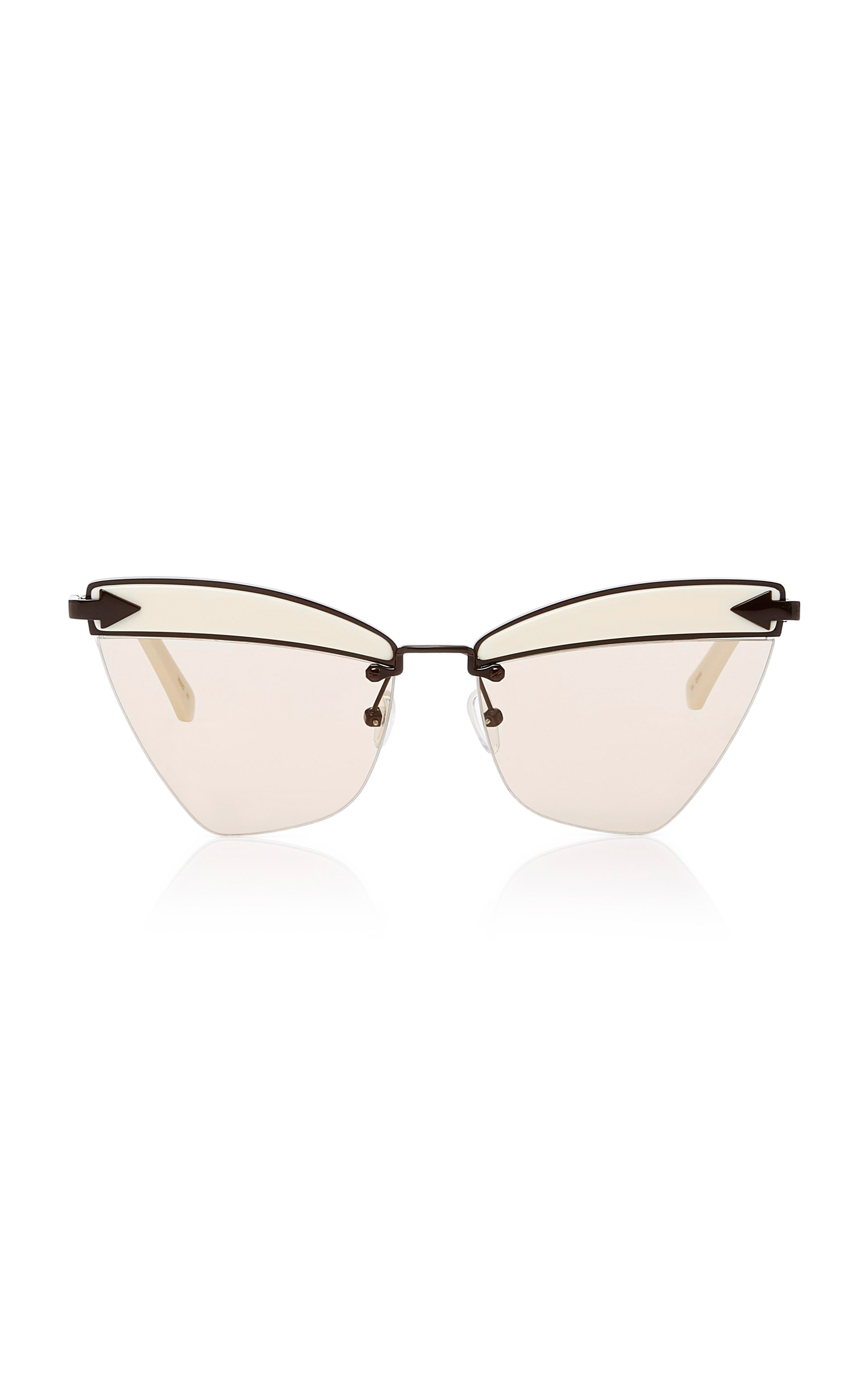 Sadie Cat-eye Acetate And Gold-tone Sunglasses - Black Karen Walker FOQJyz