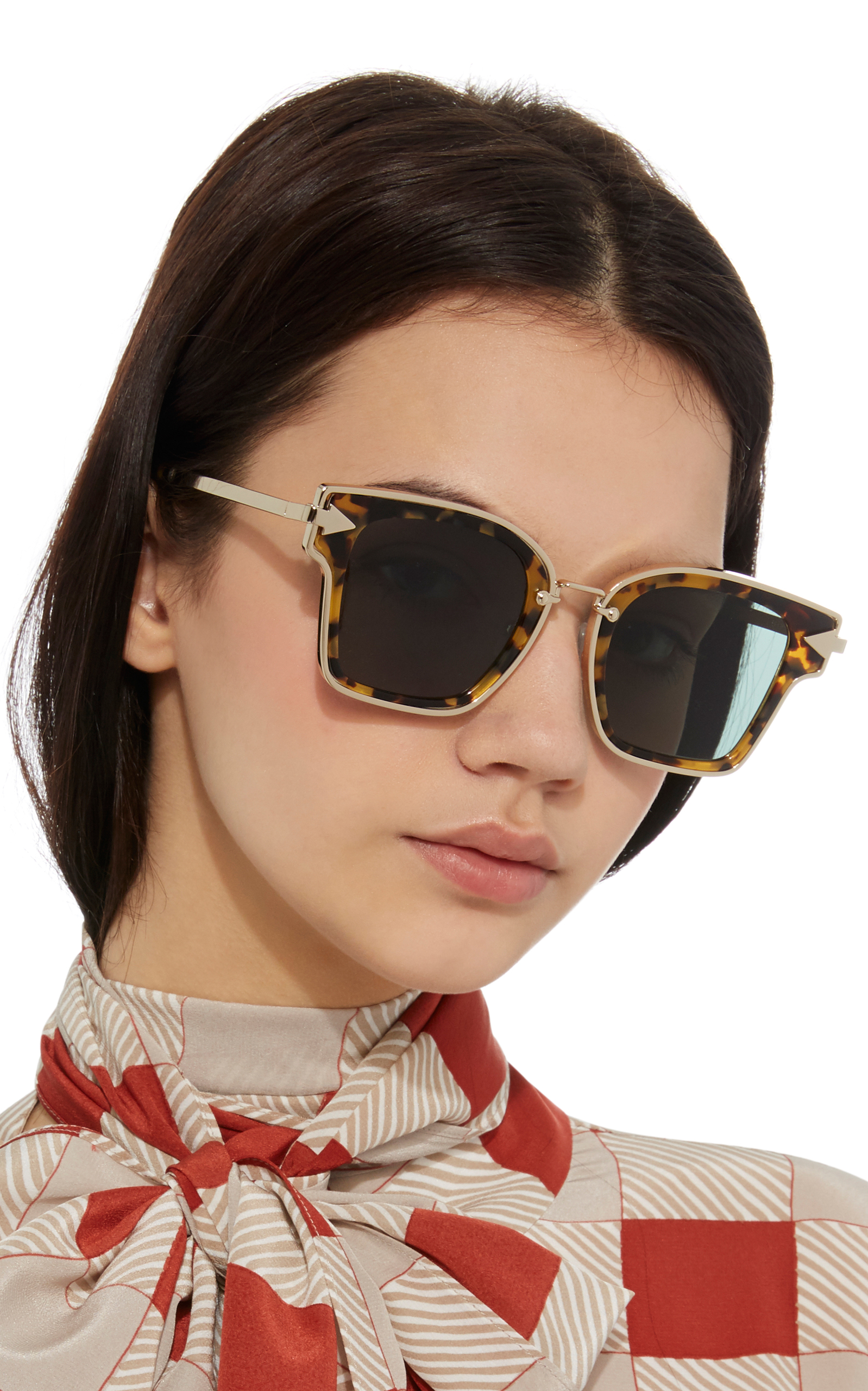 Rebellion Square-Frame Acetate and Metal Sunglasses Karen Walker KsqC1uNN
