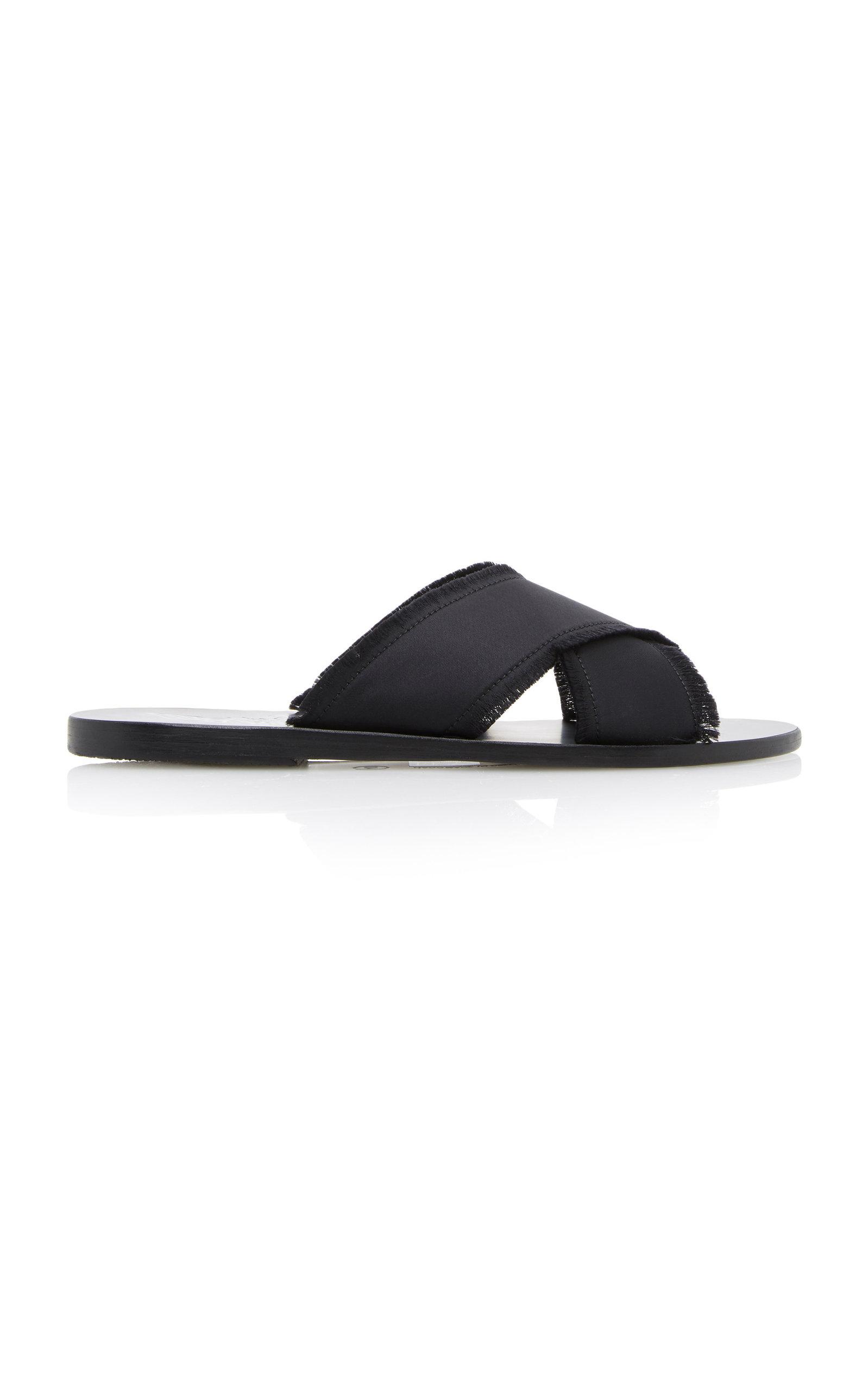 Ancient Greek Sandals Leathers THAIS SATIN SLIDES