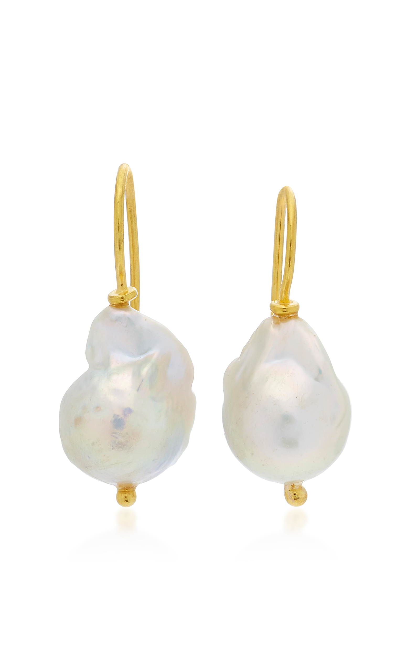 drop single and earrings luna products moon lola pearl