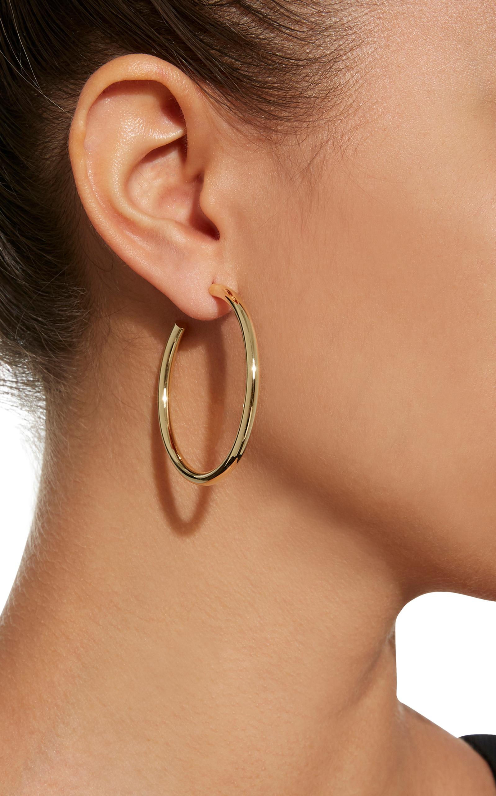 1.5 Baby Gold-Plated Hoop Earrings Jennifer Fisher zo615O72