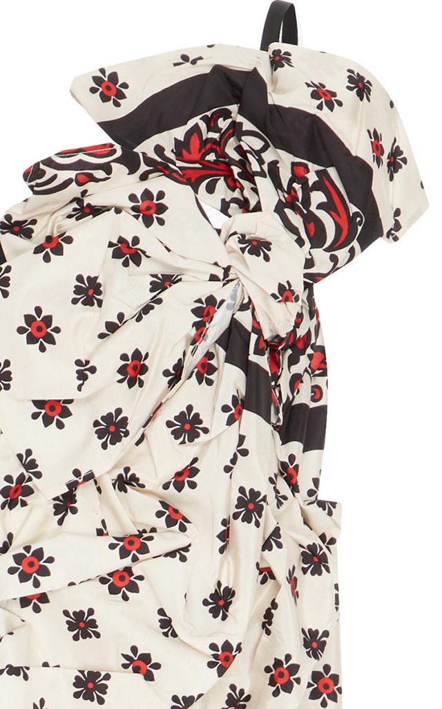 Gathered Bandana Print Dress Red Valentino KcxW7koqd