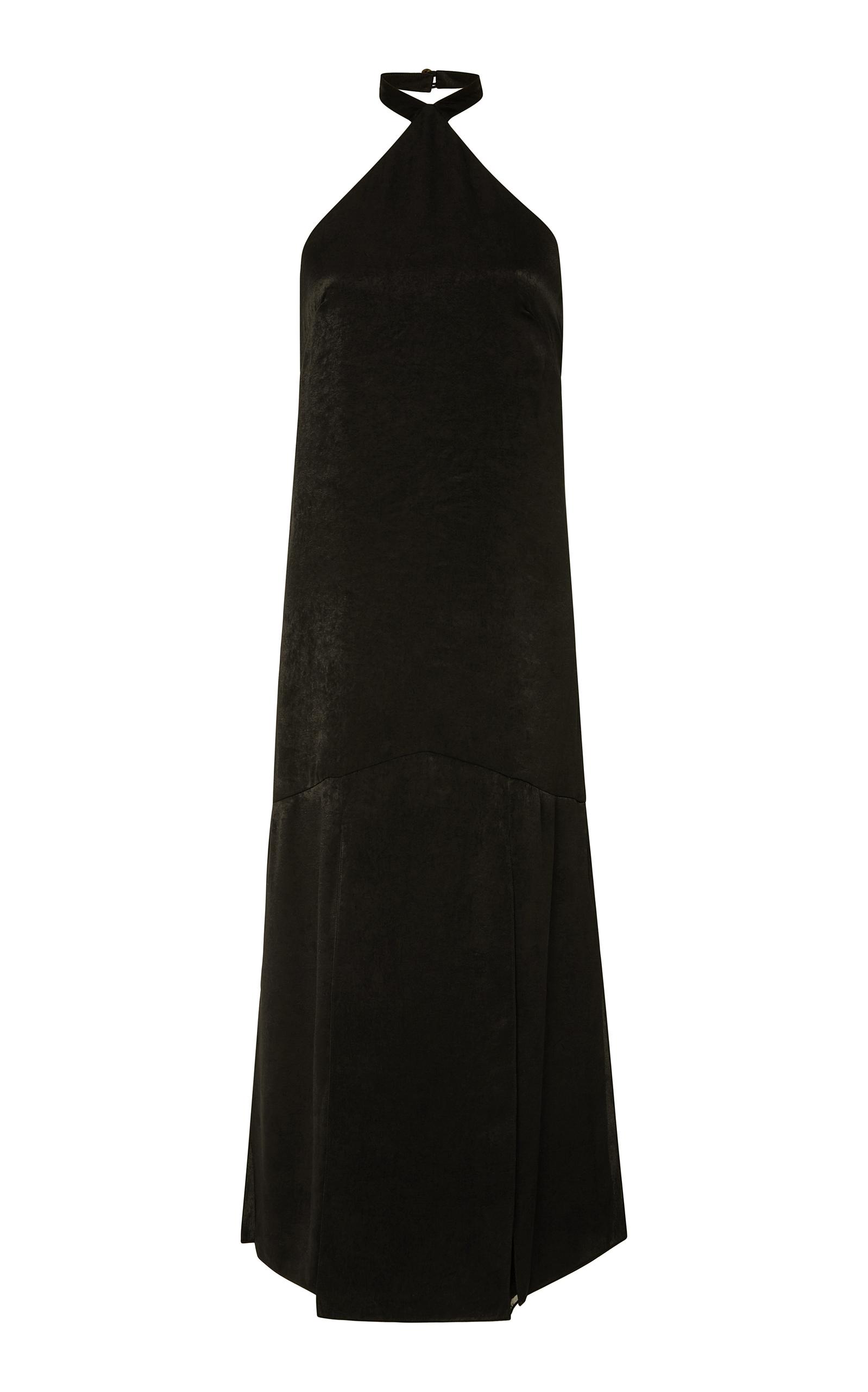 HENSELY HALTERNECK COTTON AND TENCEL-BLEND DRESS