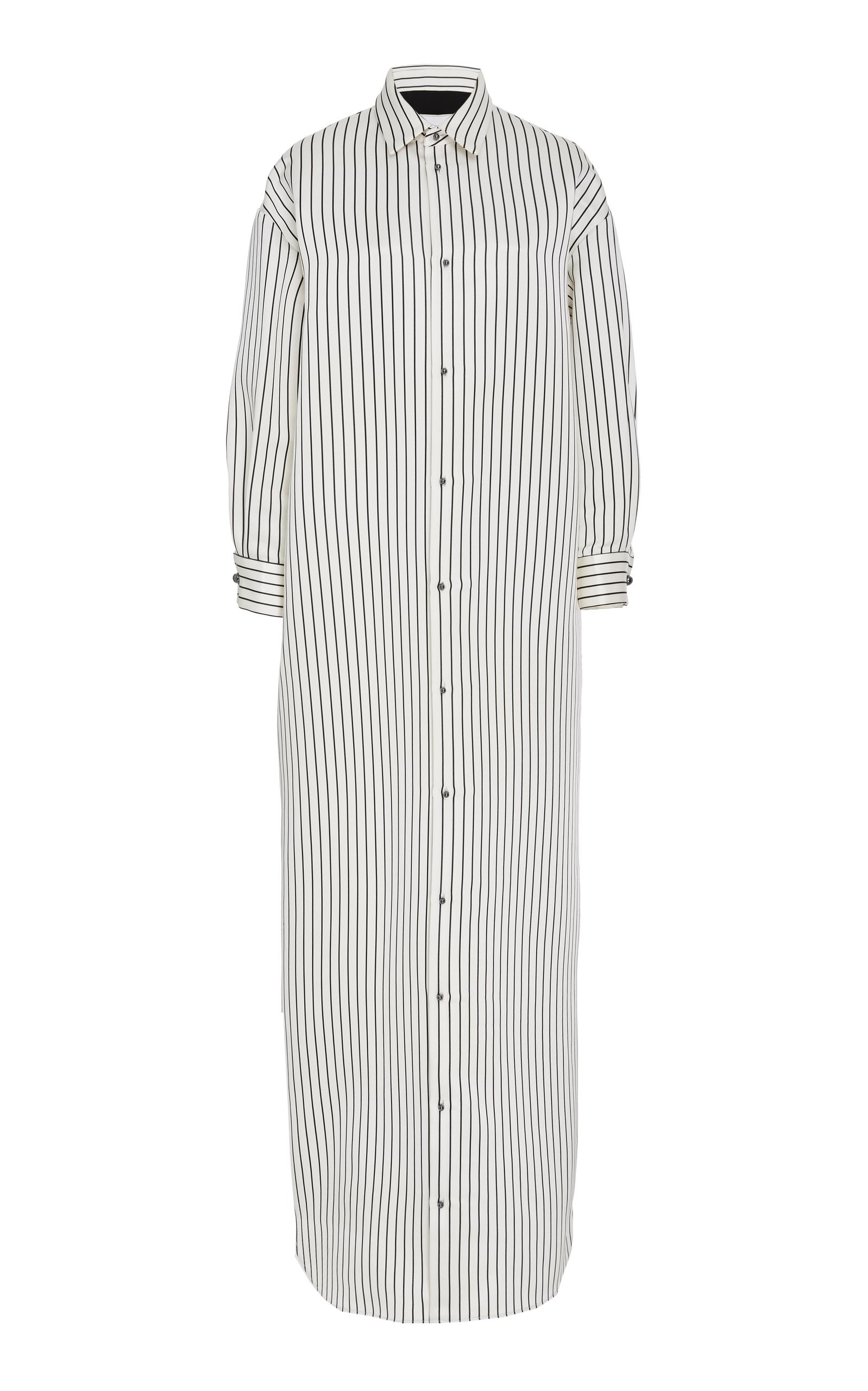 ESME VIE M'O Exclusive Capri Striped Satin Dress