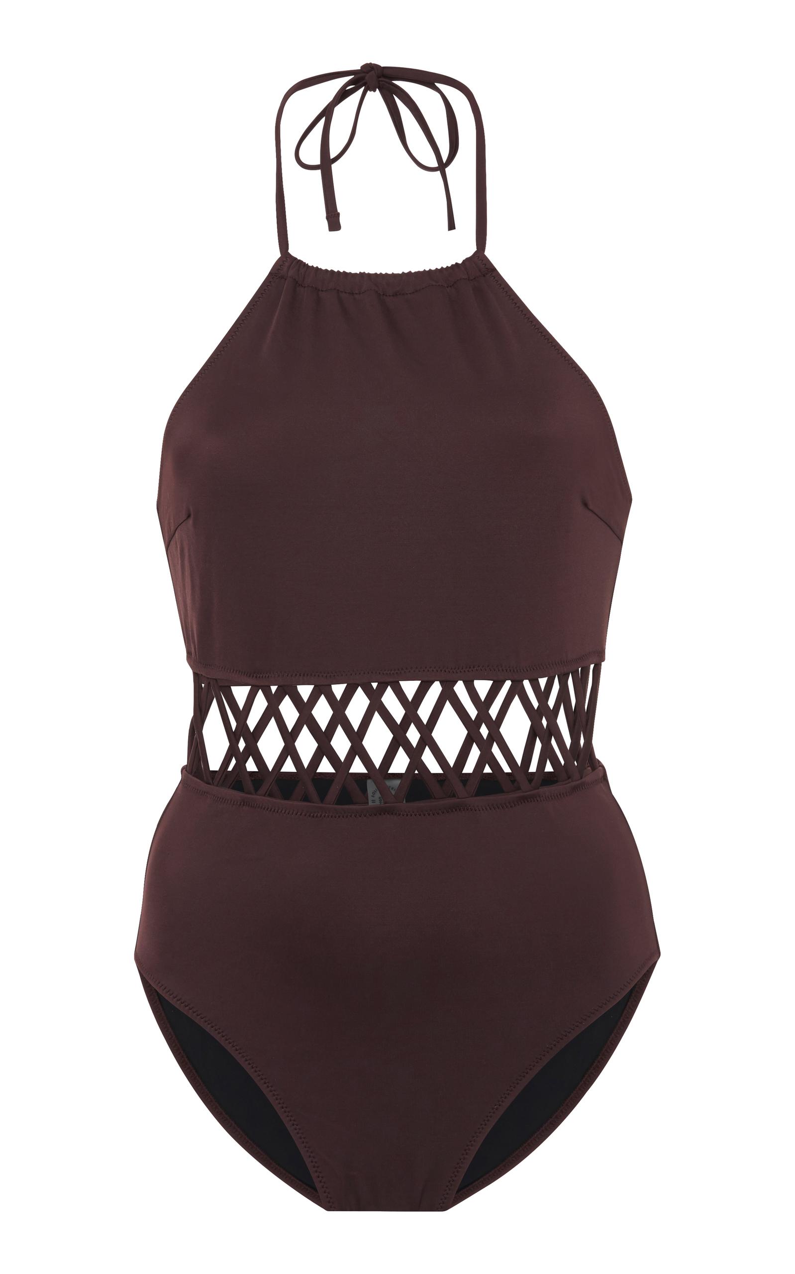 Swim Team 2018 The Barbara Lattice One-Piece Swimsuit Solid & Striped Best Store To Get Sale Online yu2YK