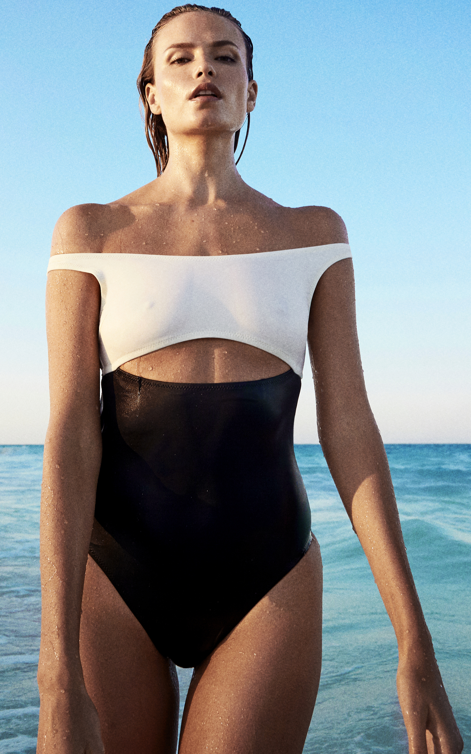 Swim Team 2018 The Natasha One-Piece Swimsuit Solid & Striped Free Shipping Best Place X0n6I2EF1y