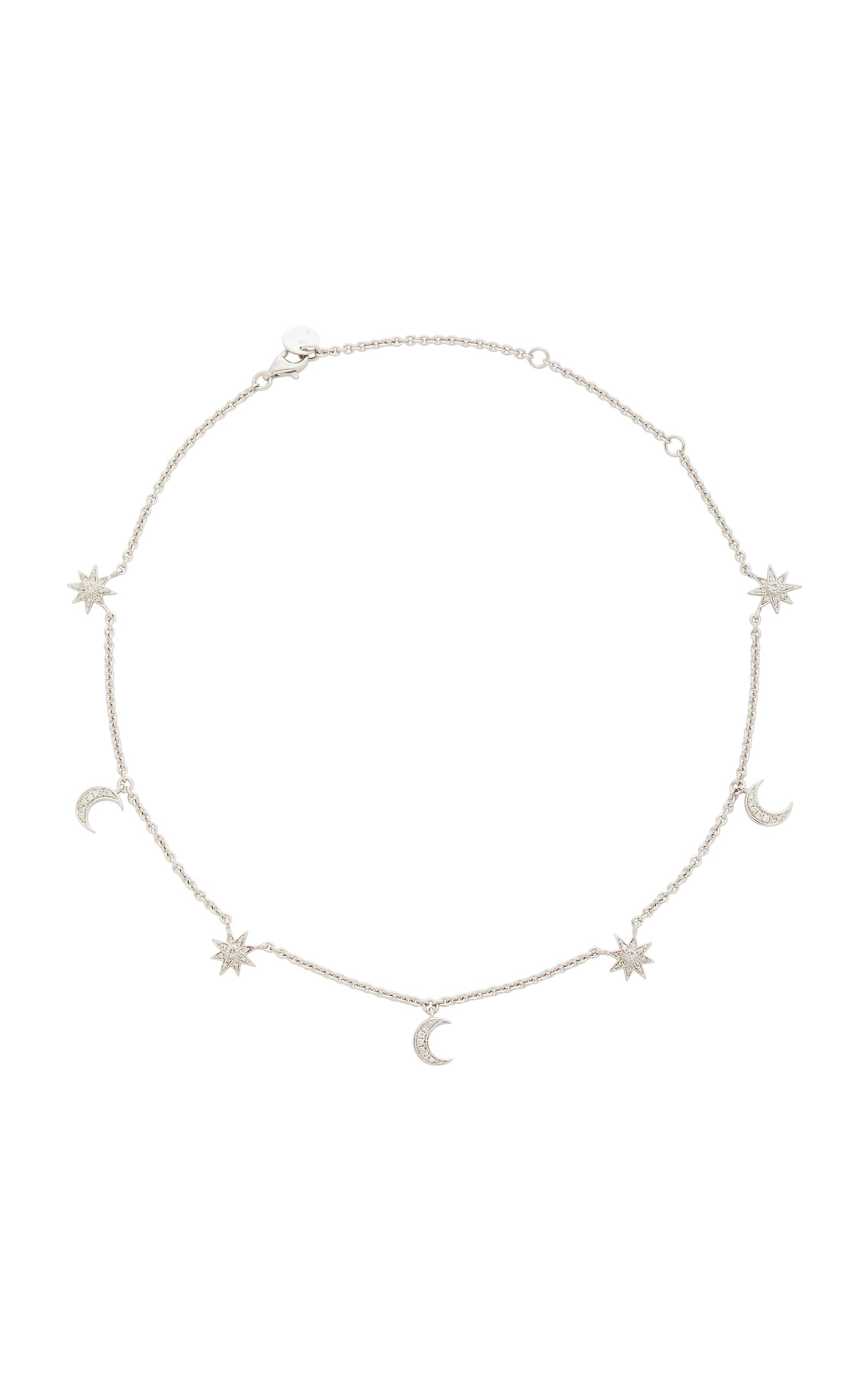 SHAY | Shay 18K White Gold Diamond Necklace | Goxip