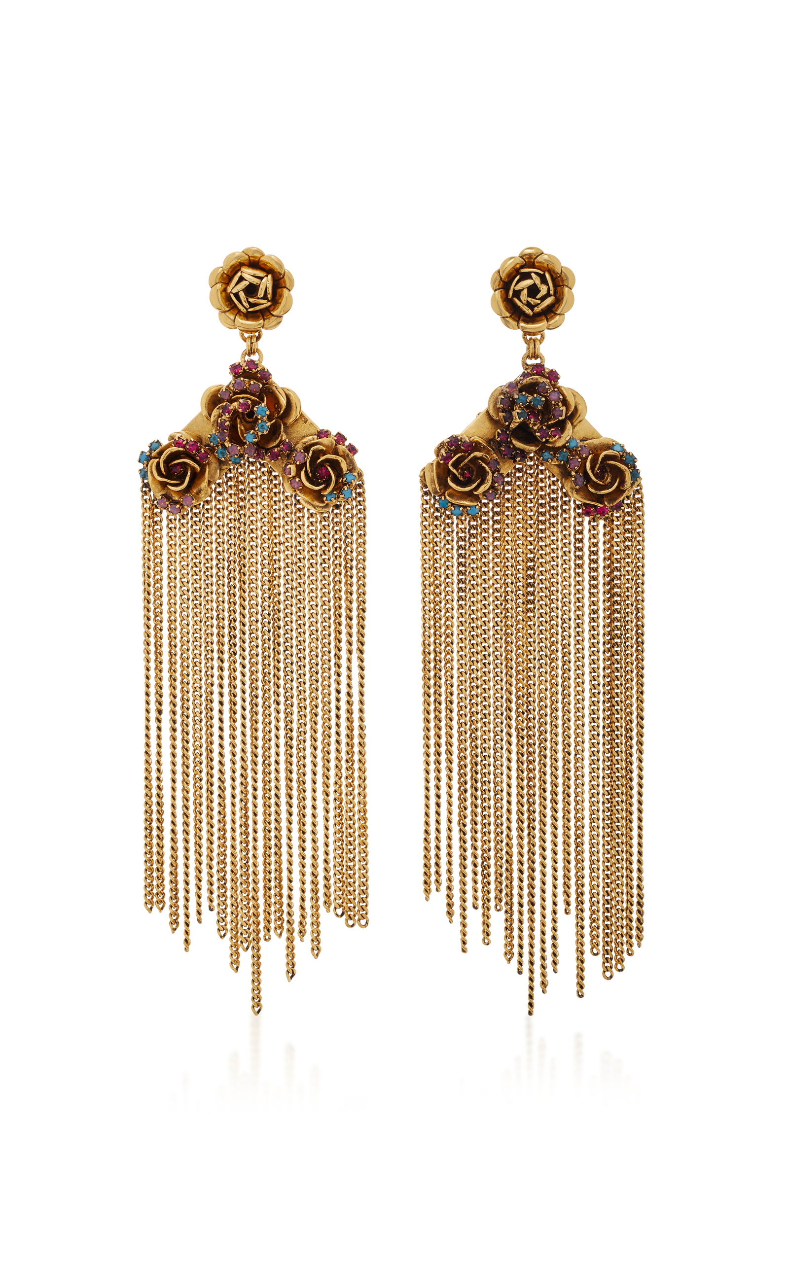 global products house nude teardrop brass fringe earrings earring mercy