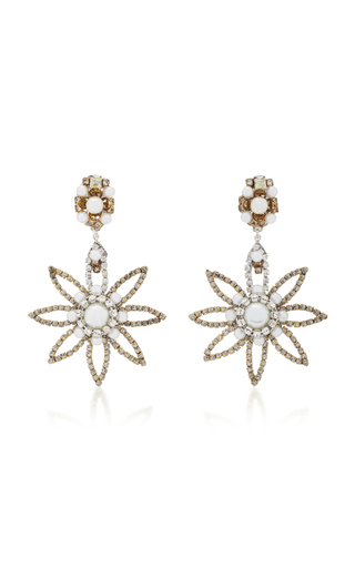 ERICKSON BEAMON | Erickson Beamon My One And Only 24K Gold-Plated Crystal And Pearl Earrings | Goxip