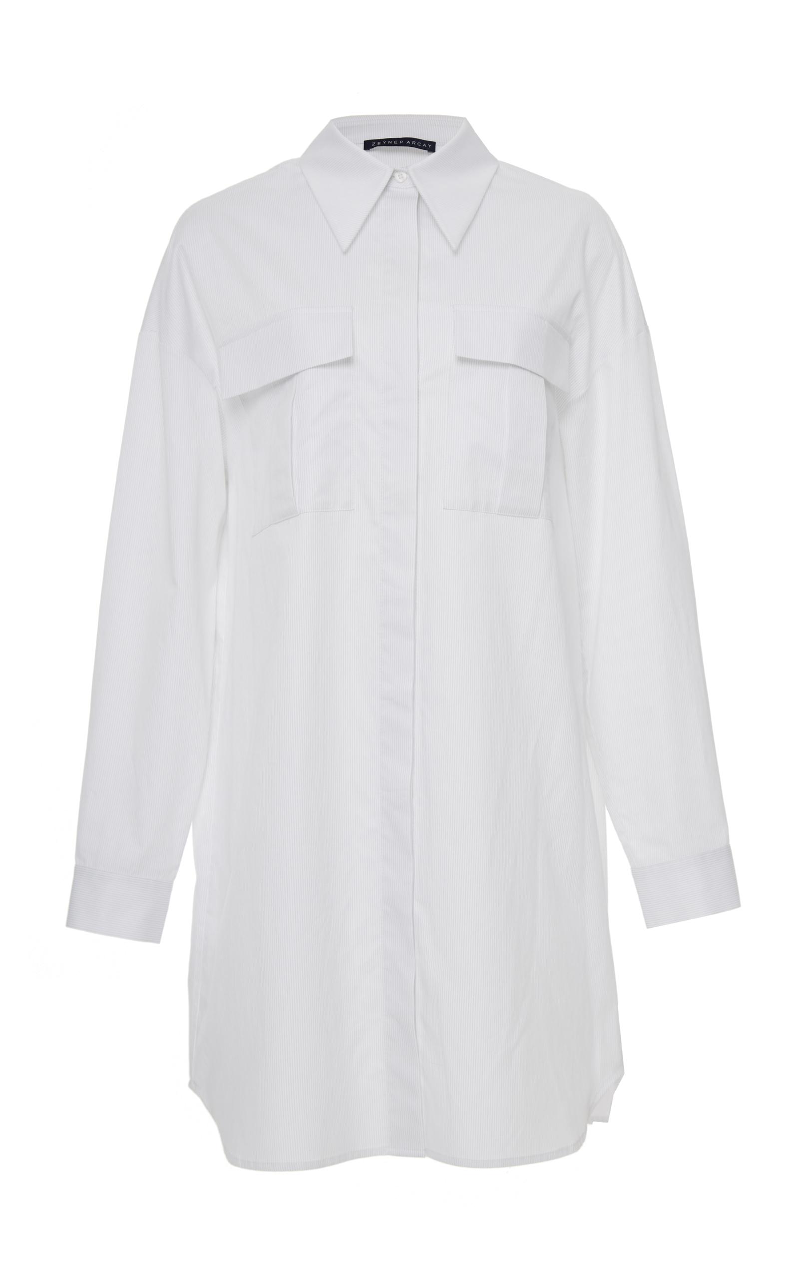 ZEYNEP ARCAY Cotton Shirt Dress in White