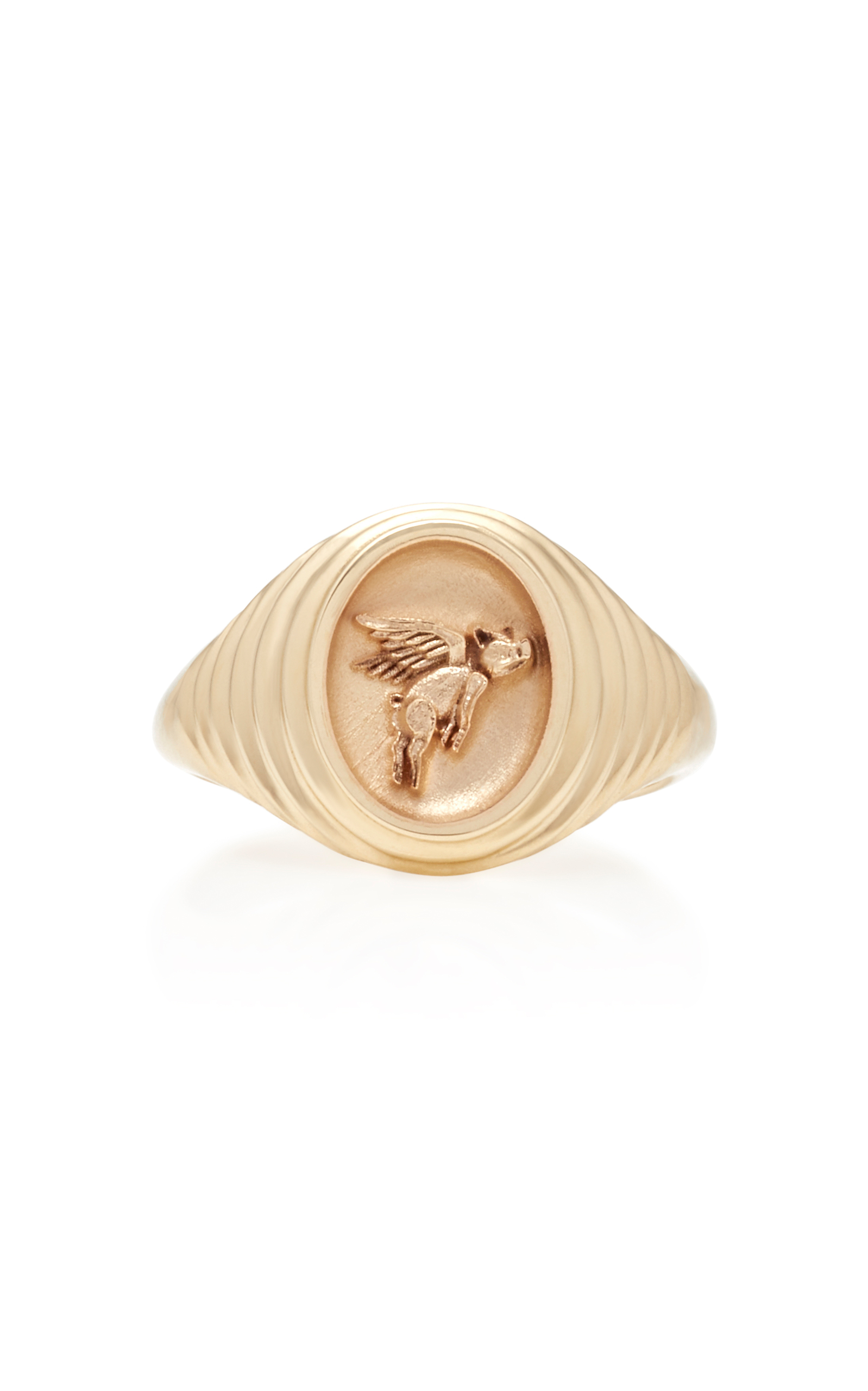 flying pig signet ring Retrouvai