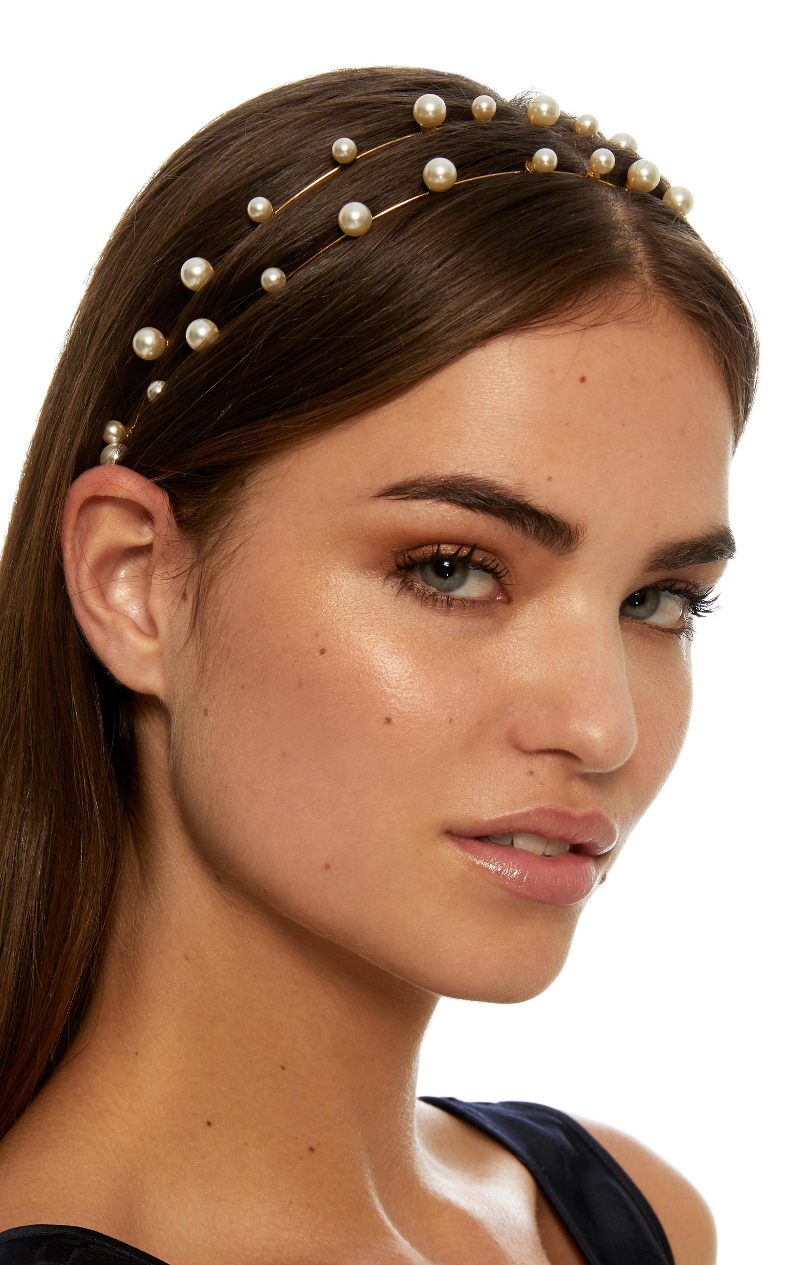Sybil Bandeaux Gold-Plated Headband by Jennifer Behr  3f3f399fdbf
