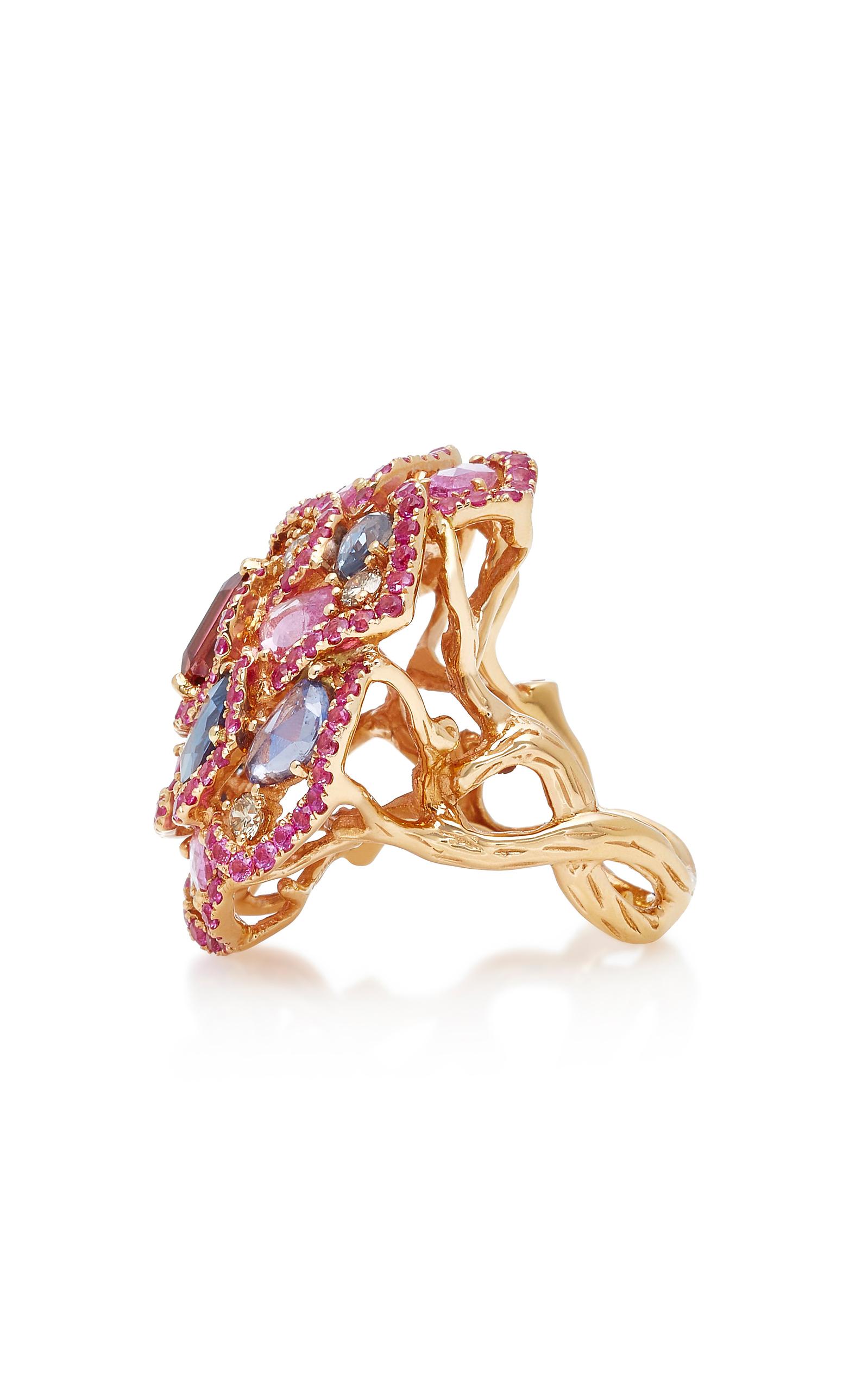 Pink Sapphire Flower Ring By Wendy Yue Moda Operandi