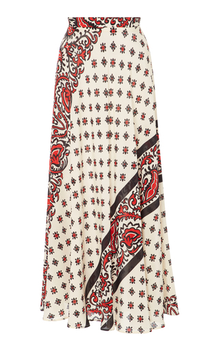 d20e0cb29 Ended. Red ValentinoBandana Print Silk Skirt