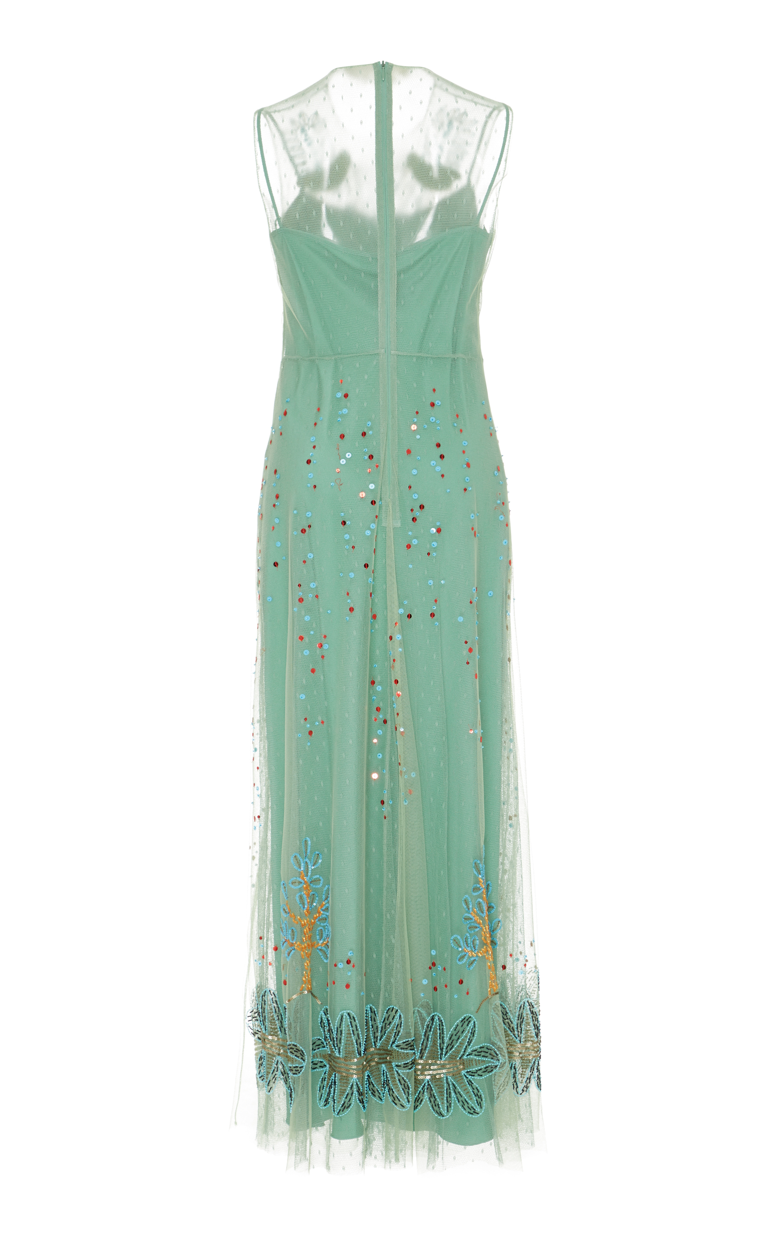 Embellished Tulle Maxi Dress by Red Valentino | Moda Operandi