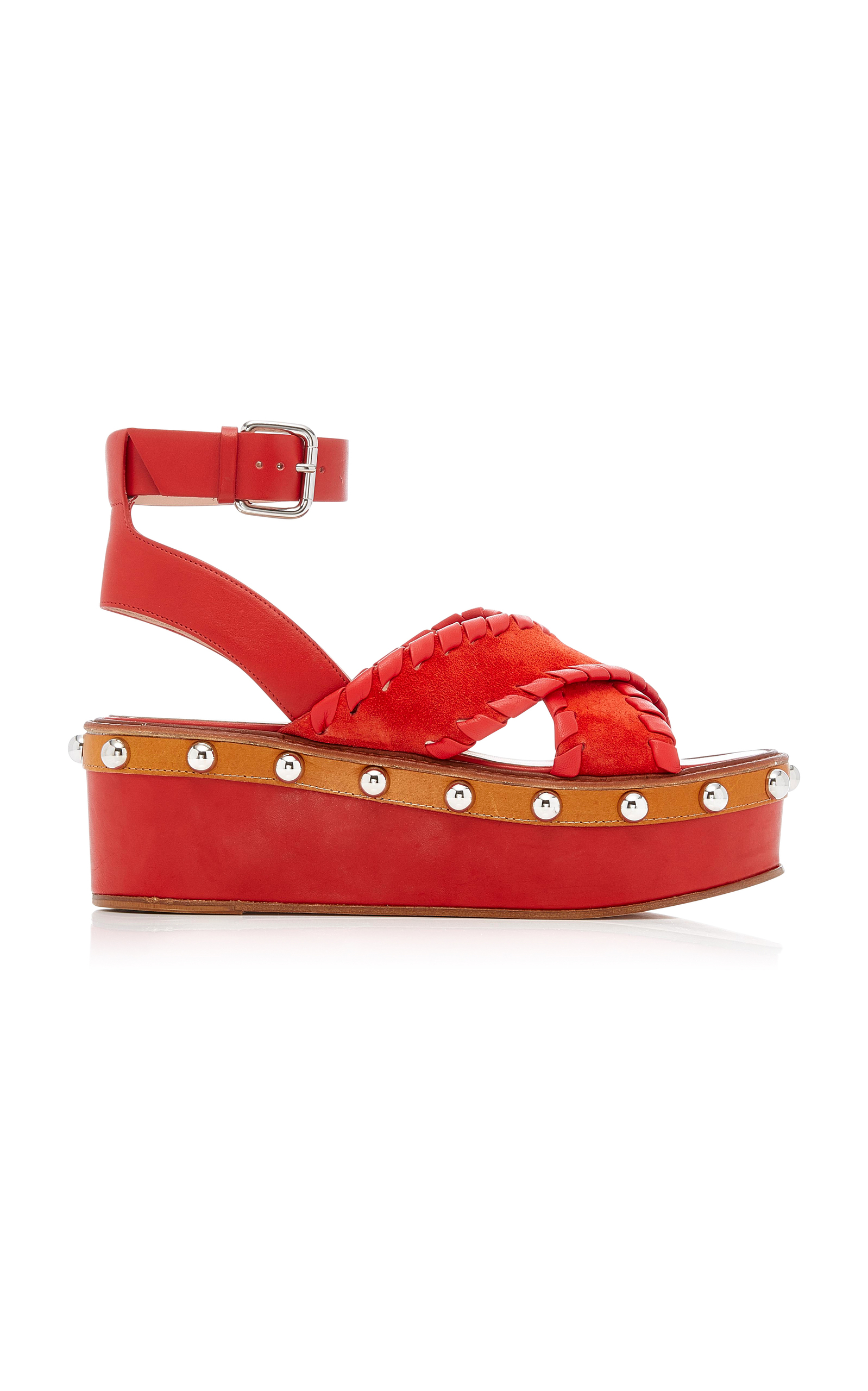 bacaccf4c632 Red ValentinoStudded Platform Sandal. CLOSE. Loading