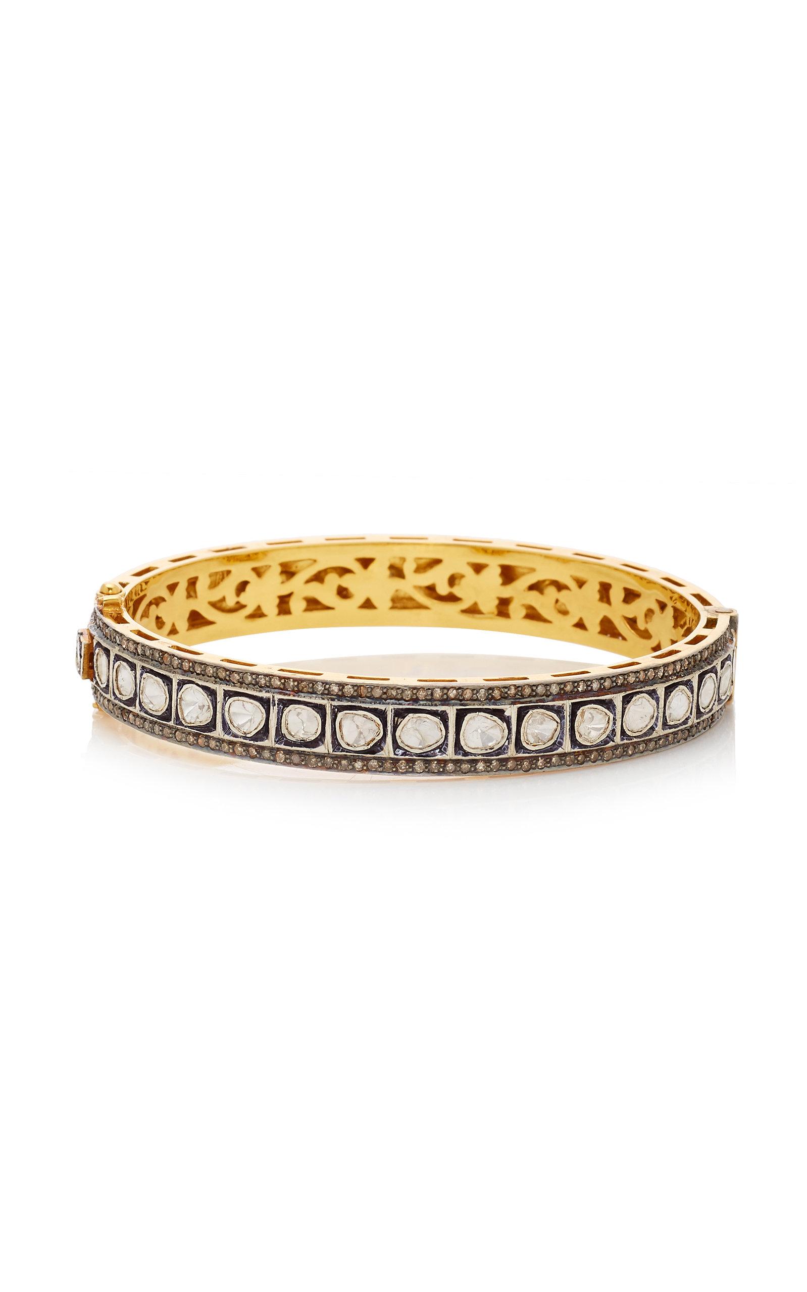 SANJAY KASLIWAL 14K Gold Silver And Diamond Bracelet