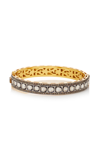 SANJAY KASLIWAL | Sanjay Kasliwal 14K Gold Silver and Diamond Bracelet | Goxip