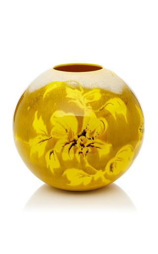 Mo Exclusive Large Yellow Vase By Cabana Moda Operandi