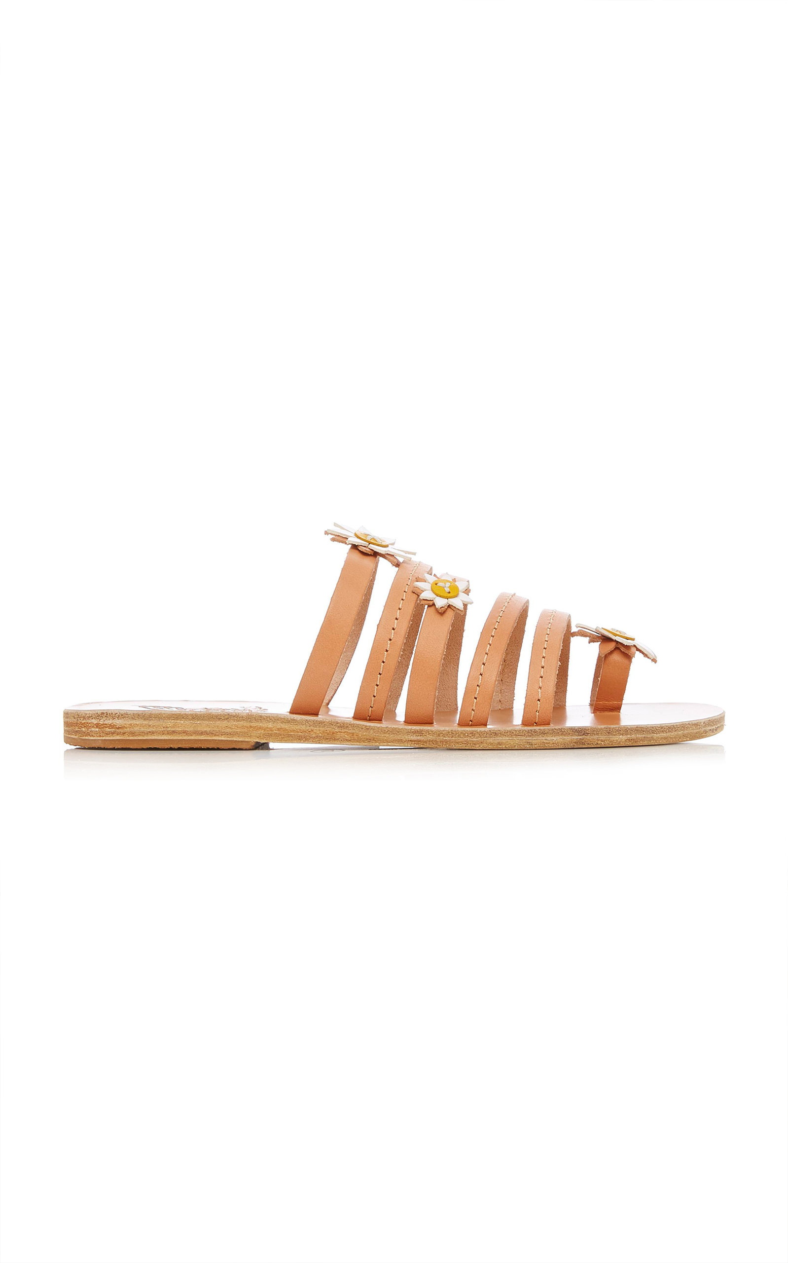 + FABRIZIO VITI VICTORIA APPLIQUÉD LEATHER SANDALS