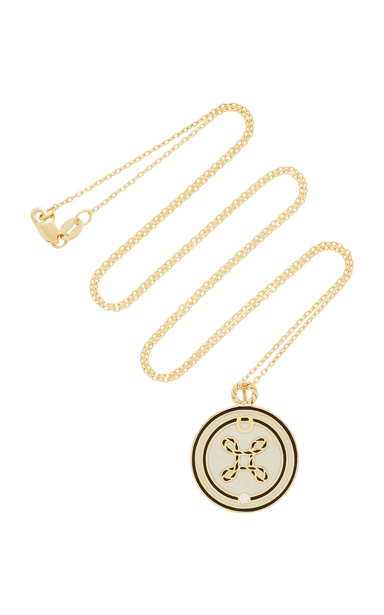 True Lover's Knot Champleve Symbol On Thread Chain