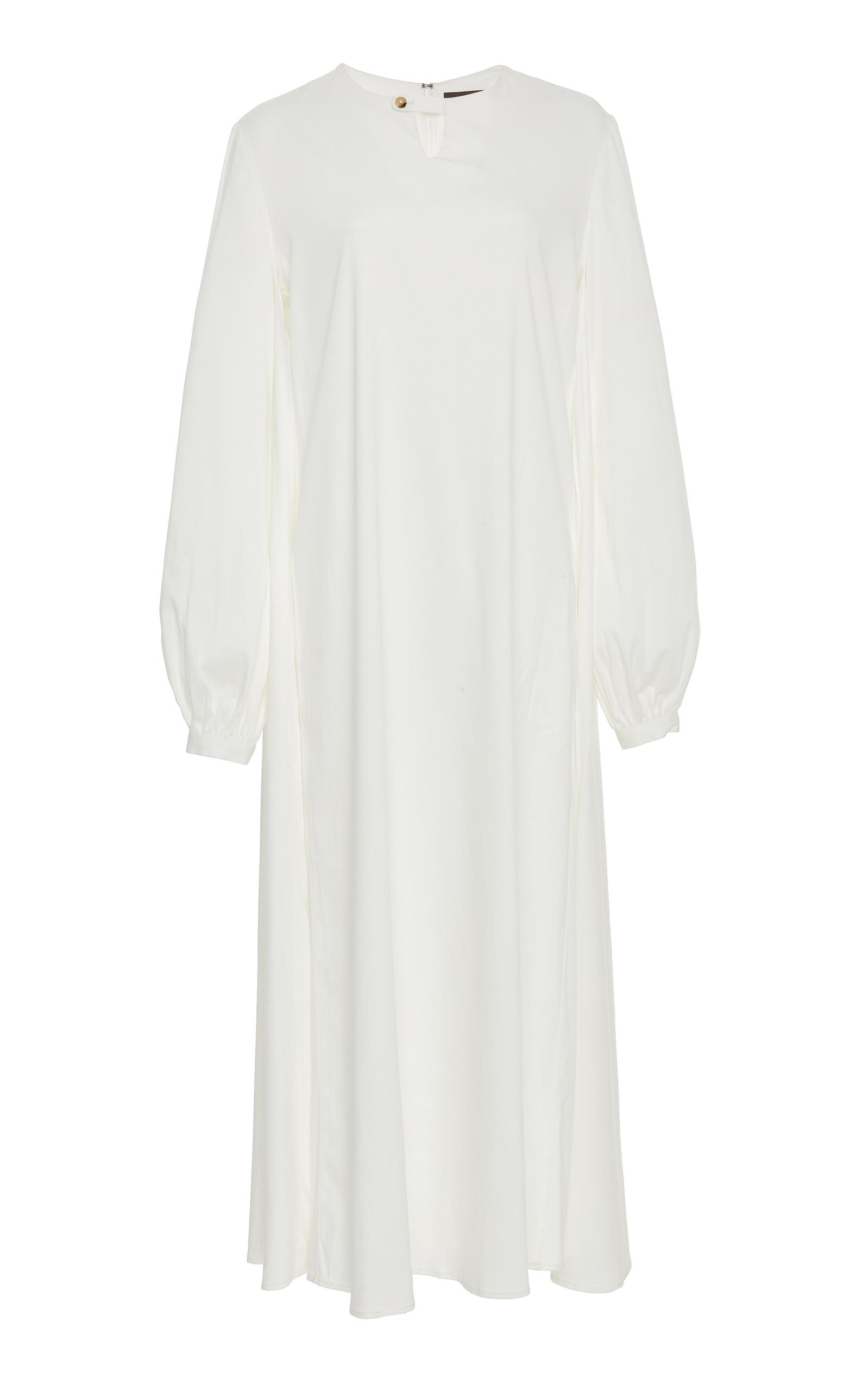 HENSELY Bishop Midi Dress in White