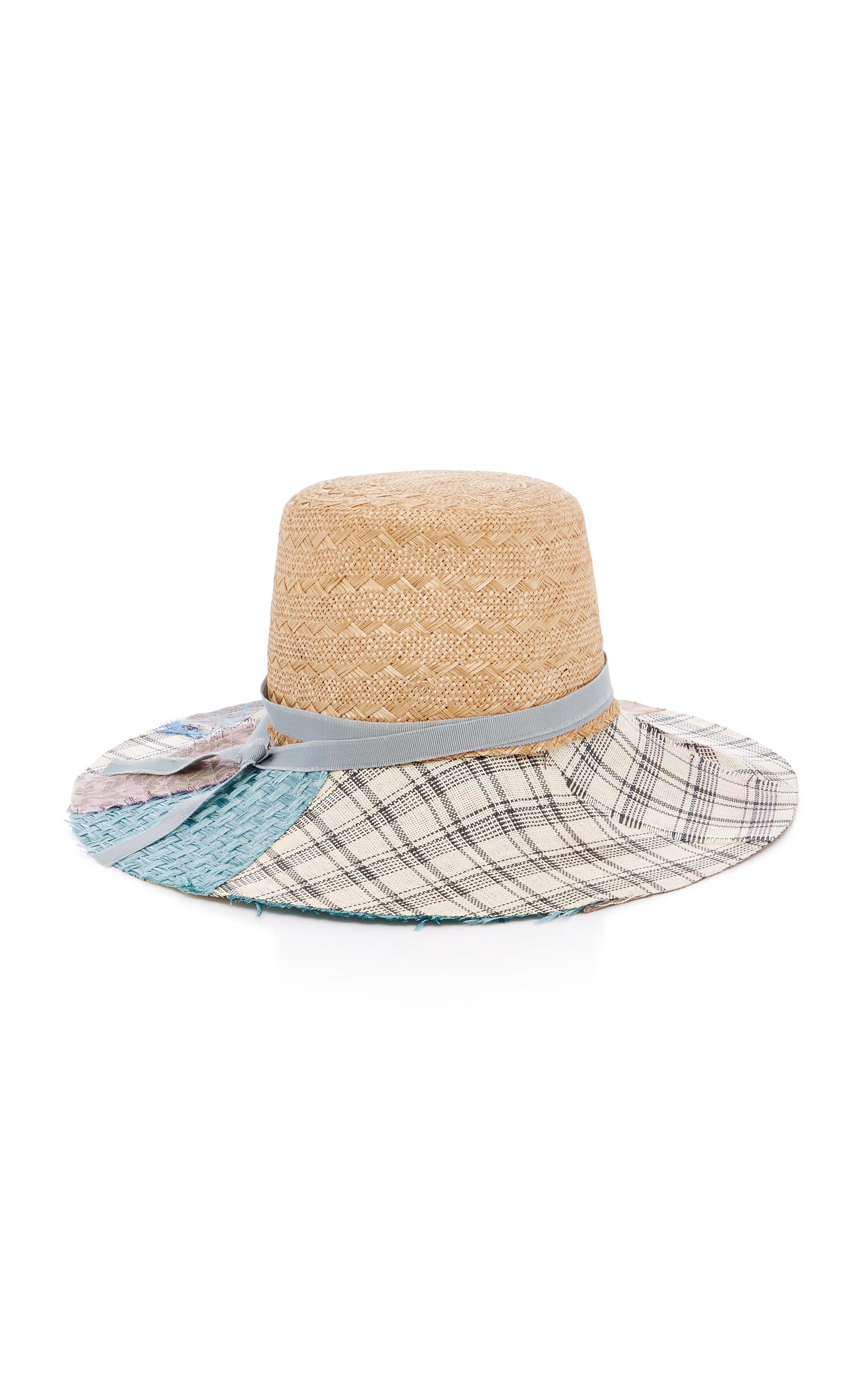 ELSIE GROSGRAIN-TRIMMED STRAW HAT