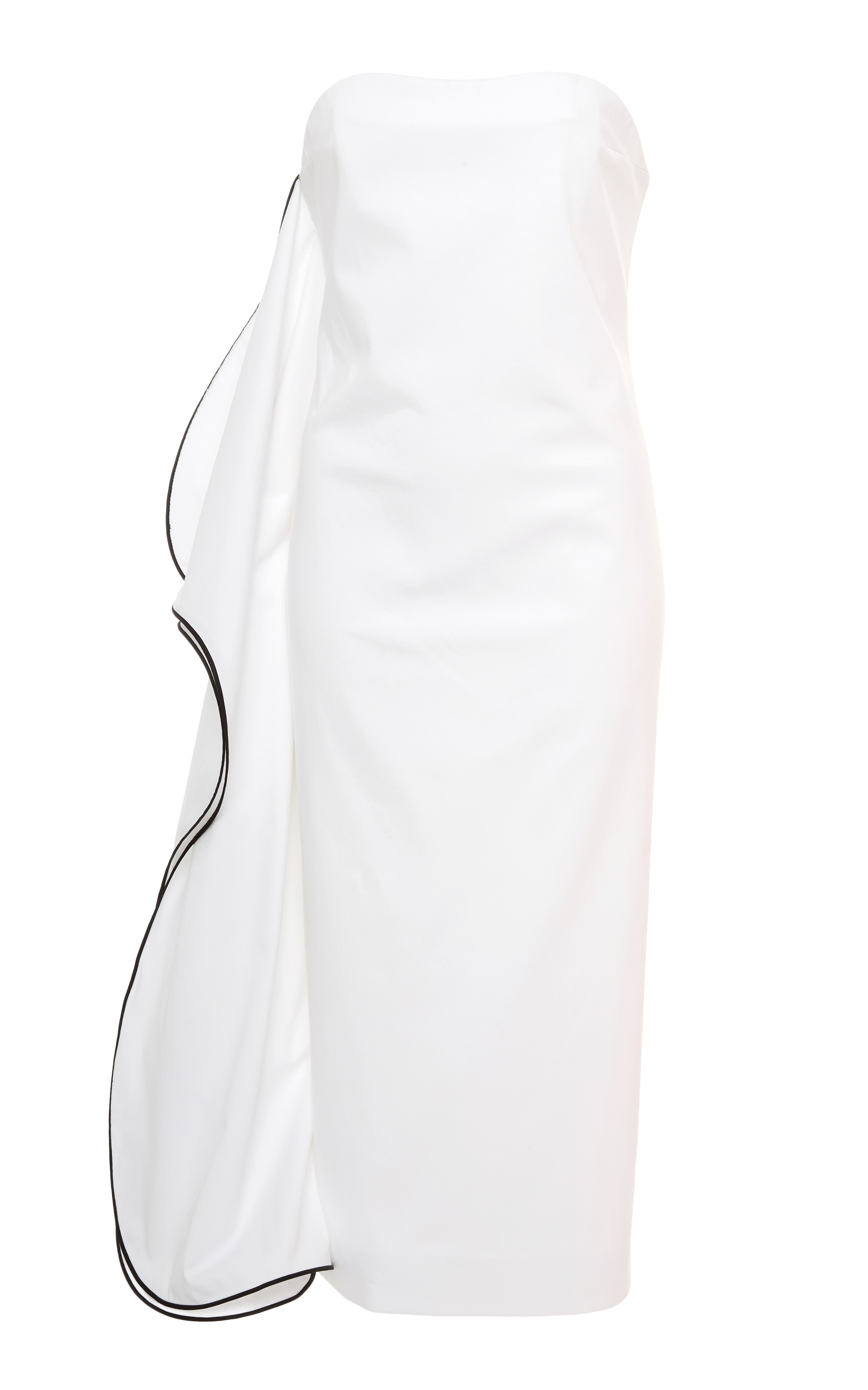 MARINA MOSCONE Riviera Strapless Dress in White