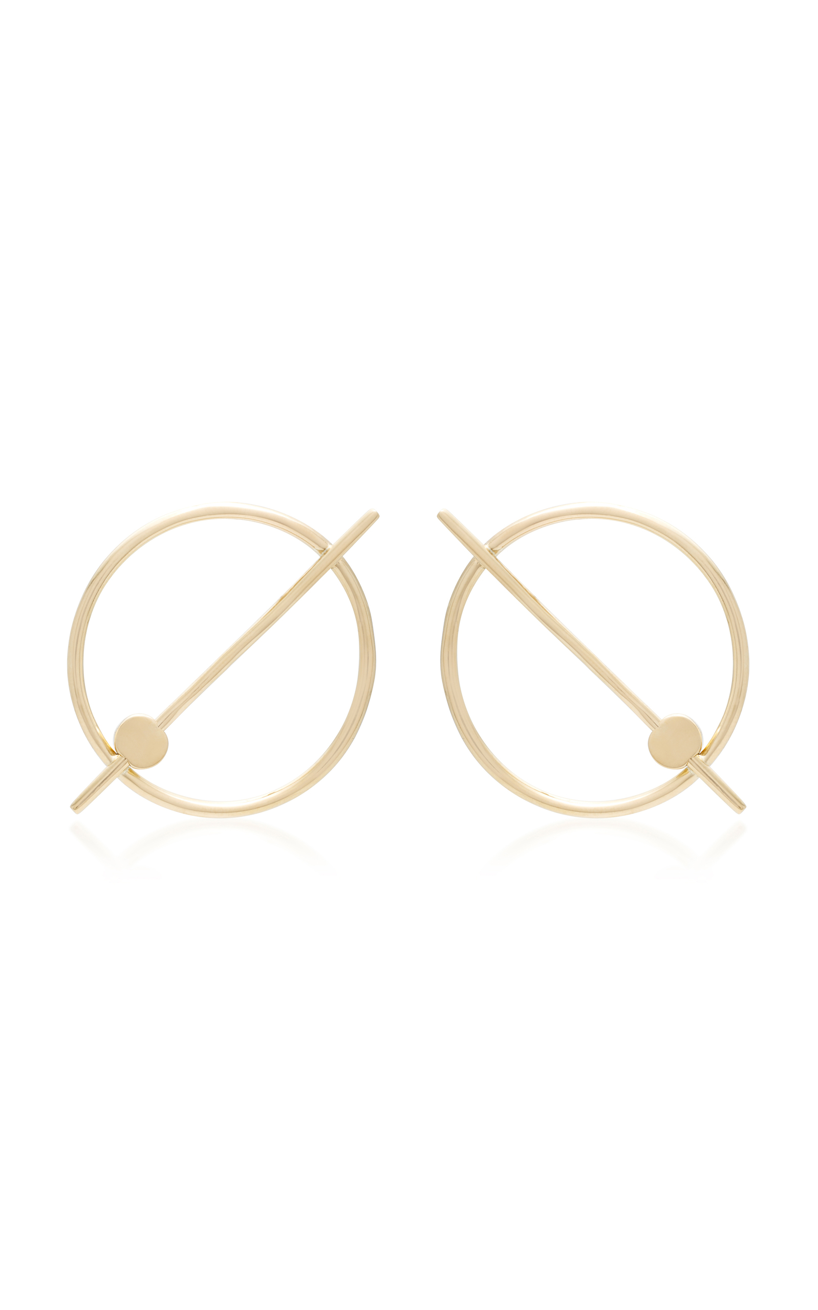 PILI RESTREPO AQUILO 14K GOLD EARRINGS