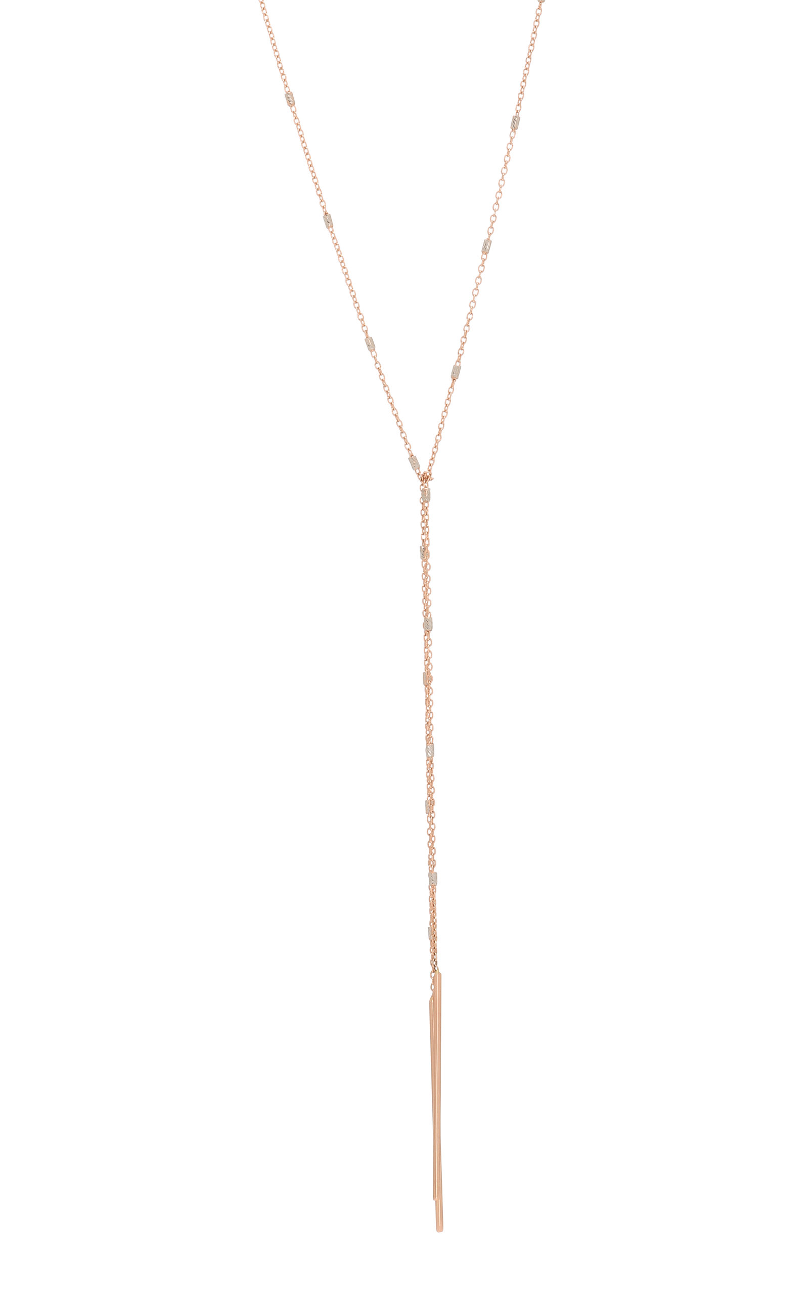 Tie-Front 14K Rose Gold Necklace White/Space sOkiDTOelk