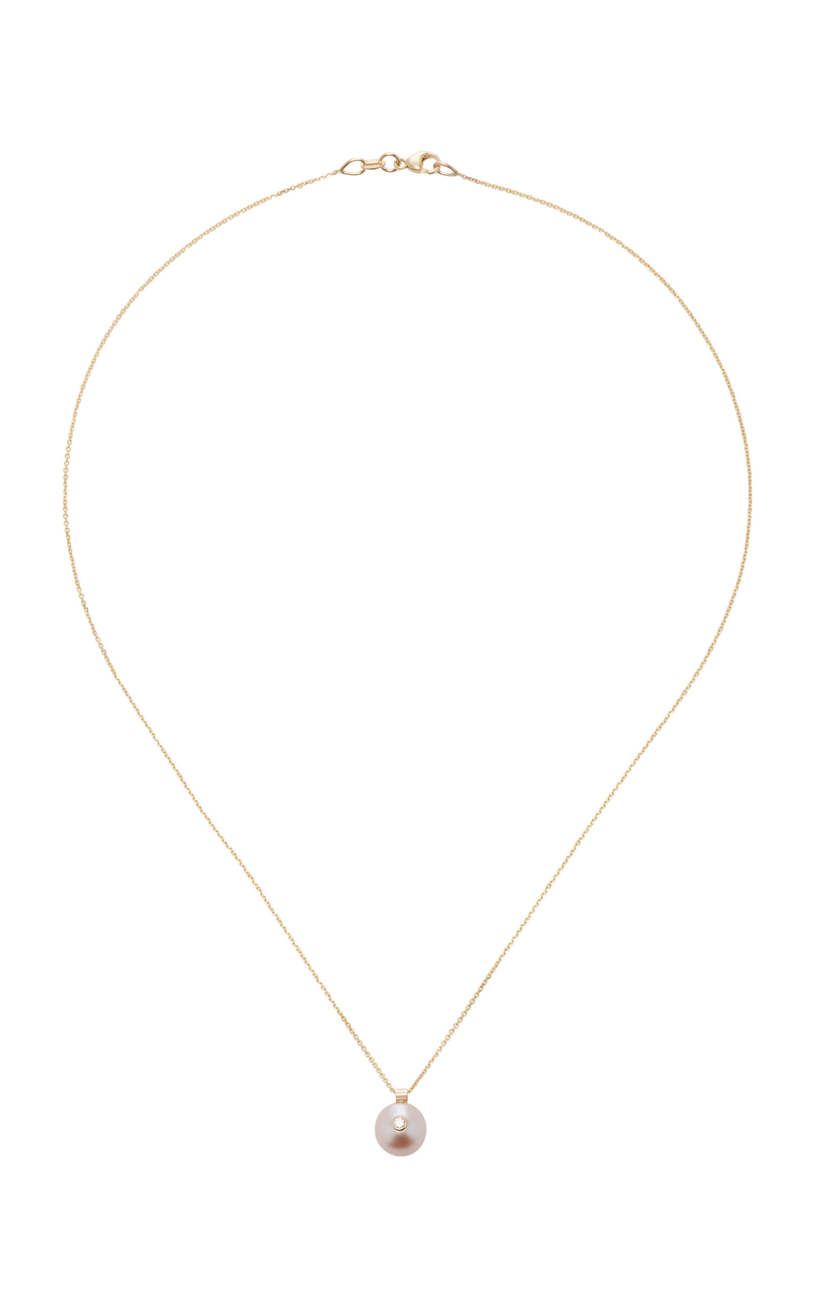 Everly 14K Gold and Pearl Necklace White/Space 2j11zhnpI