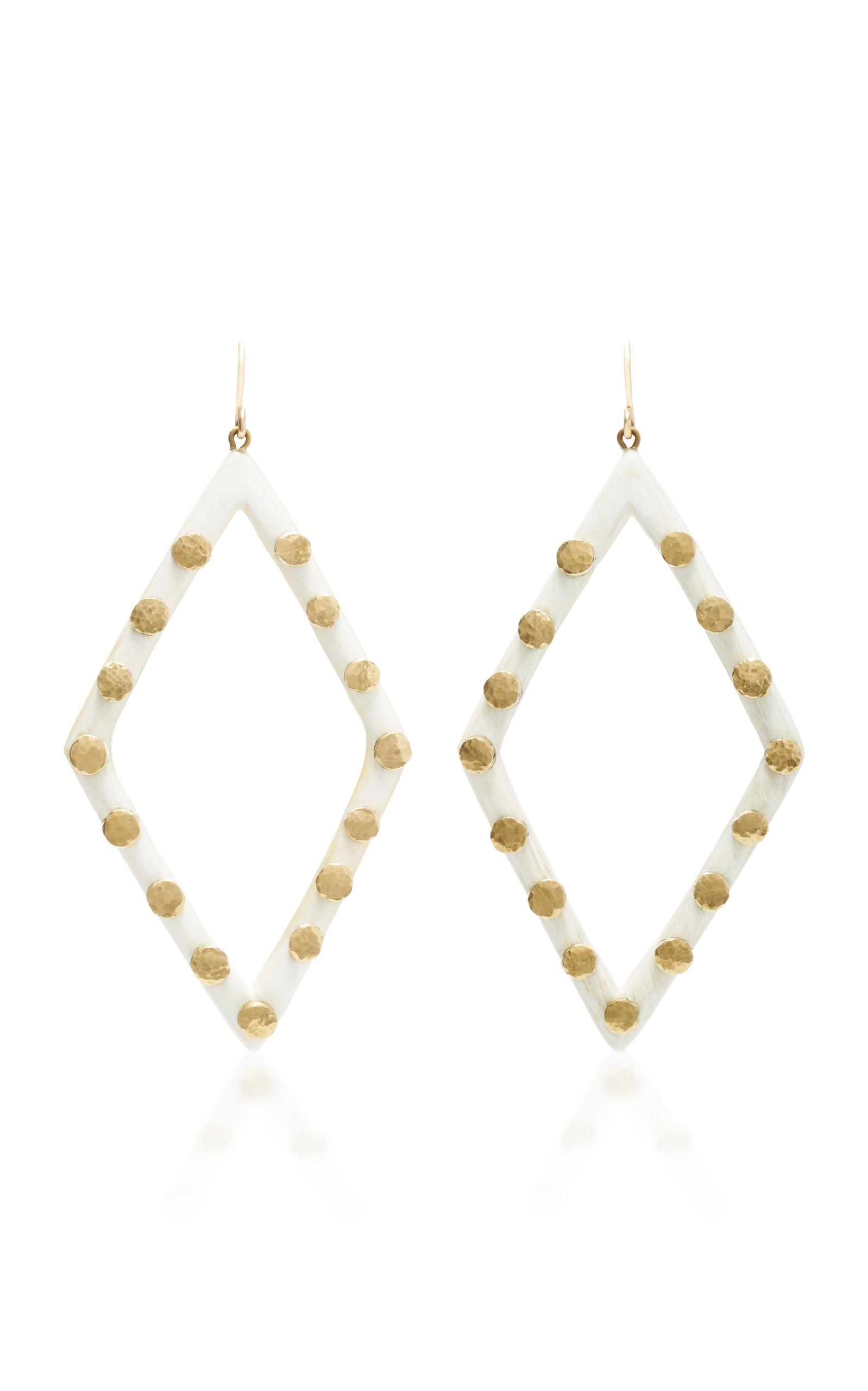 Radi Horn and Bronze Earrings Ashley Pittman AzseQjAs