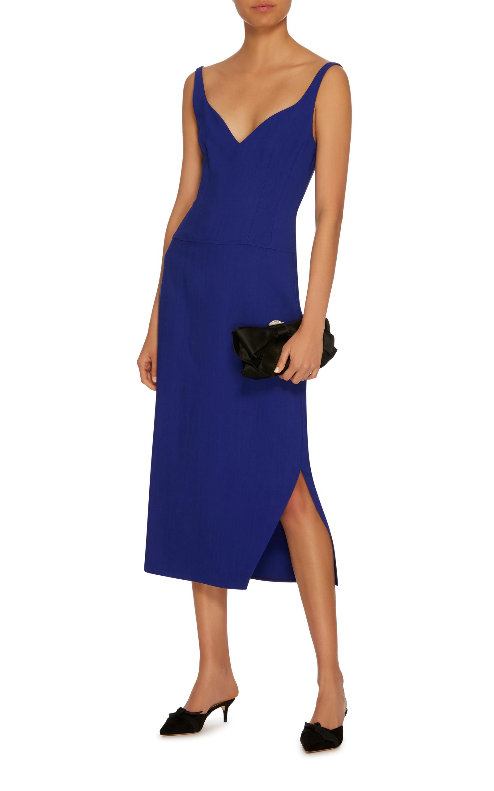 Sally Twill Midi Dress Khaite BzFyfVb