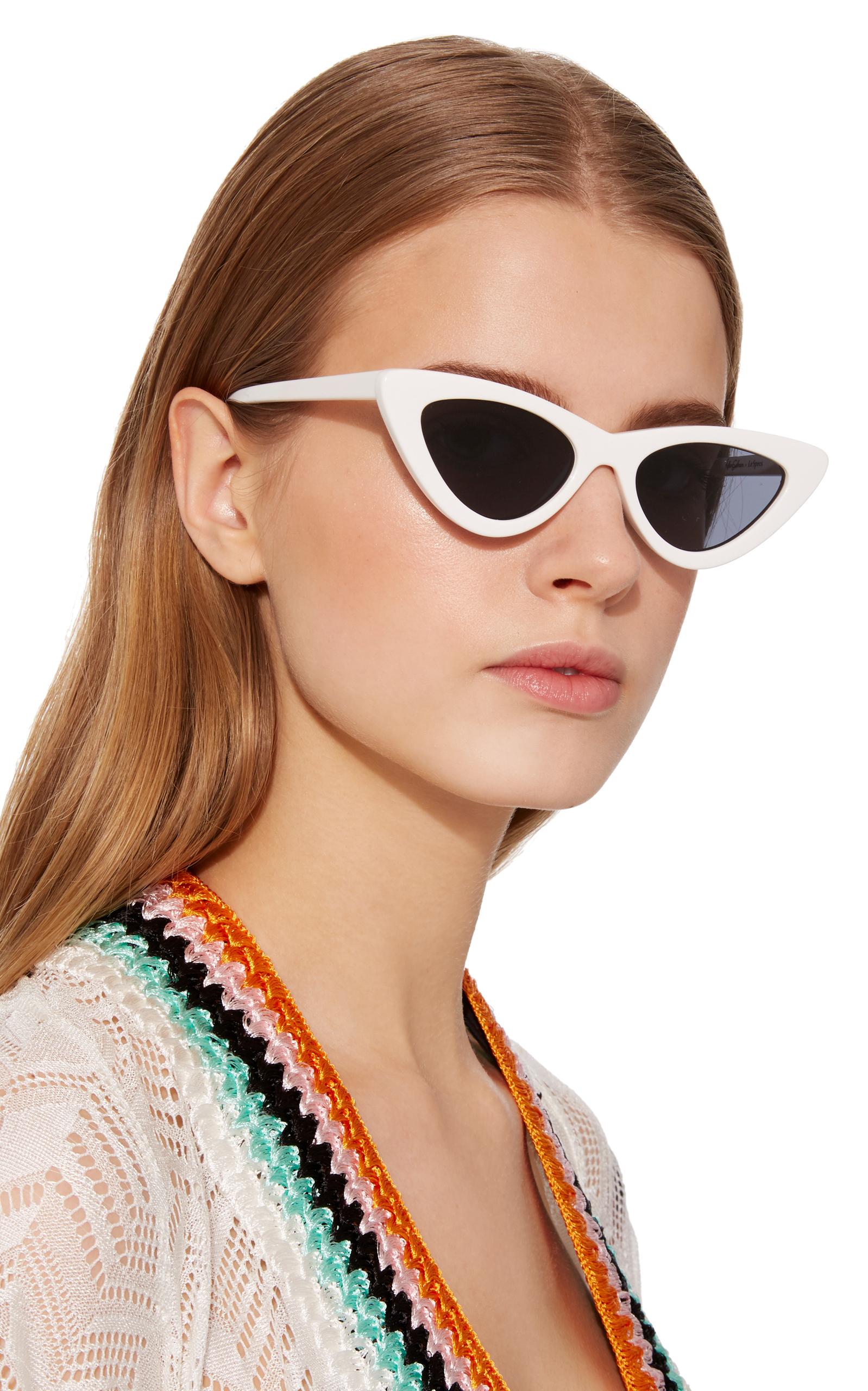 Le Specs Adam Selman X Le Spec Luxe The Last Lolita White Sunglasses ... 0fd85f88f01a9