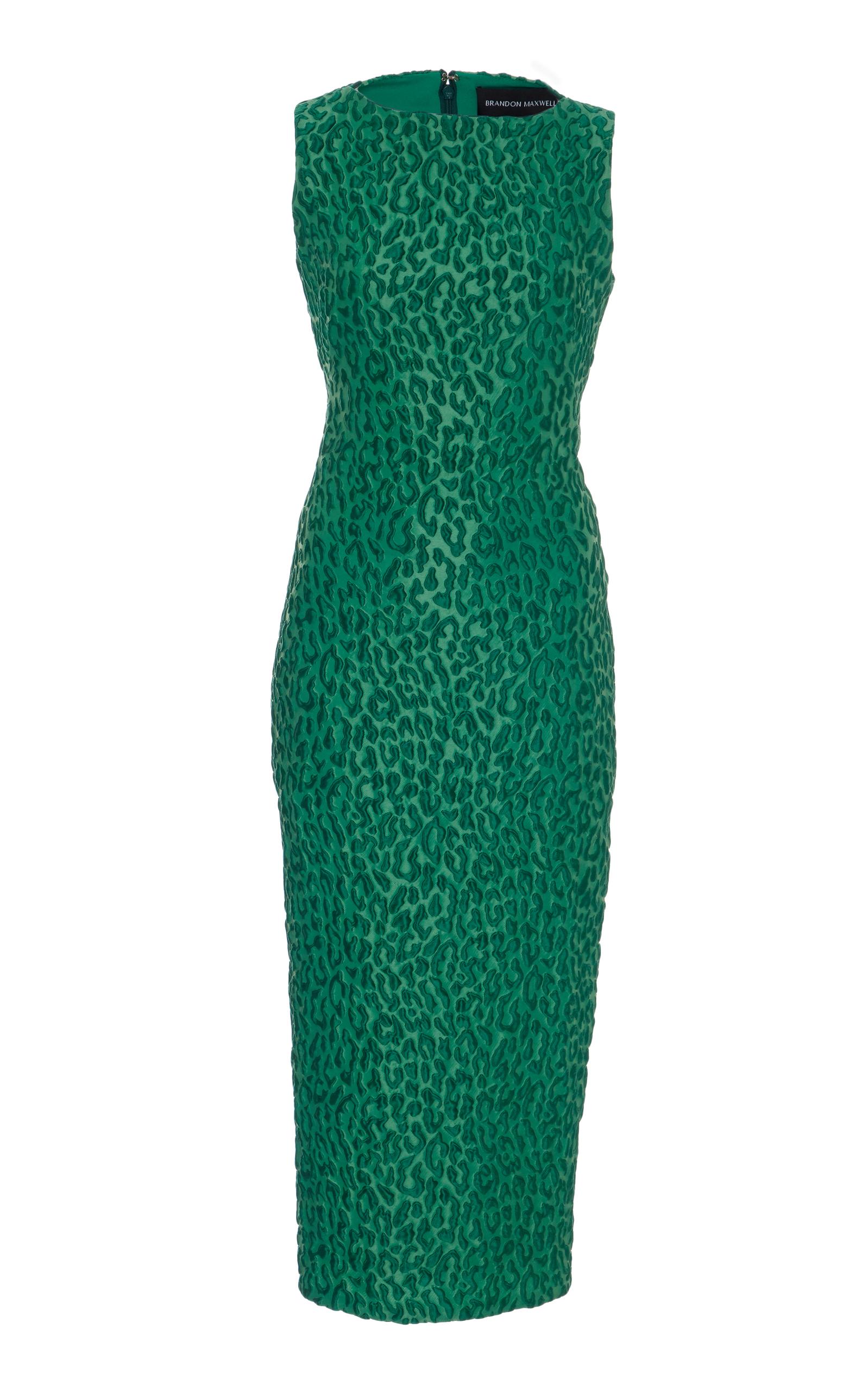 dc59c38716e87 Leopard Jacquard Column Dress by Brandon Maxwell   Moda Operandi