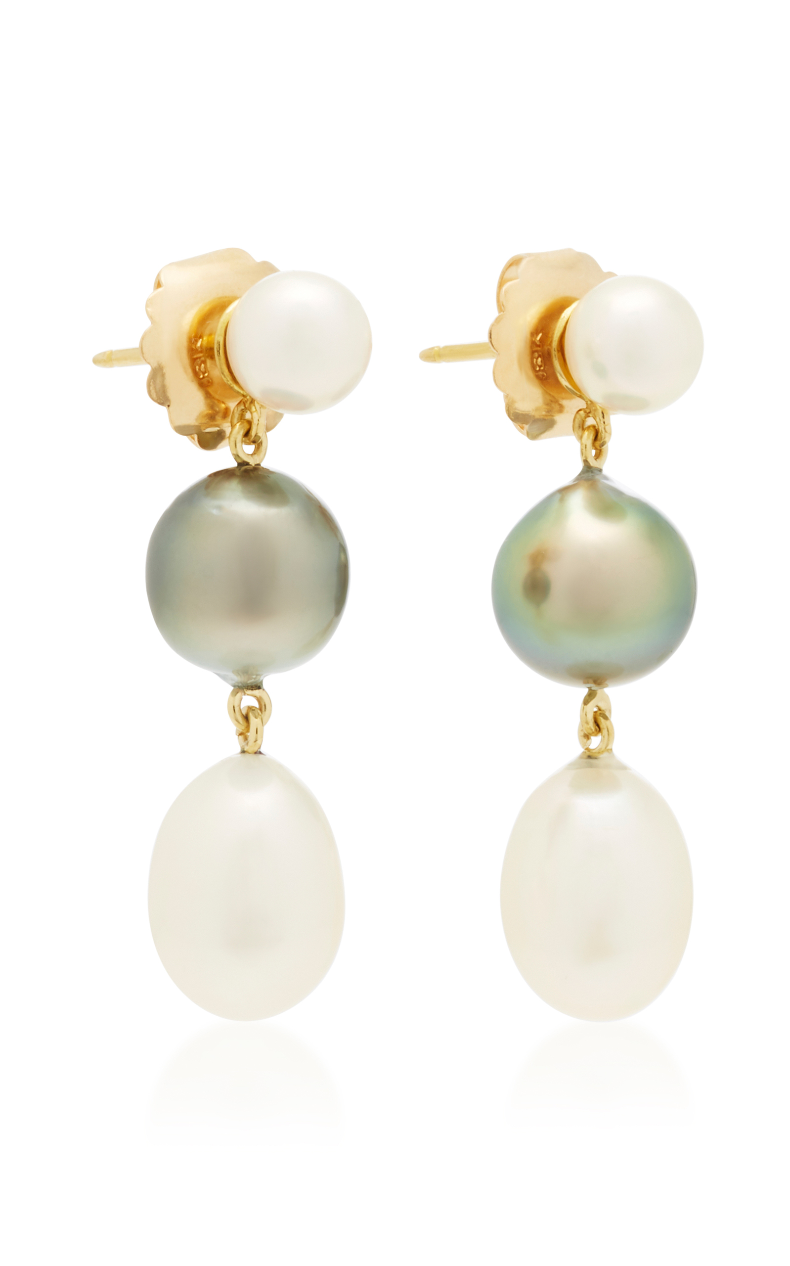 set brooch z and expand pearl coral filled to full gold click real earring earrings item sorrento