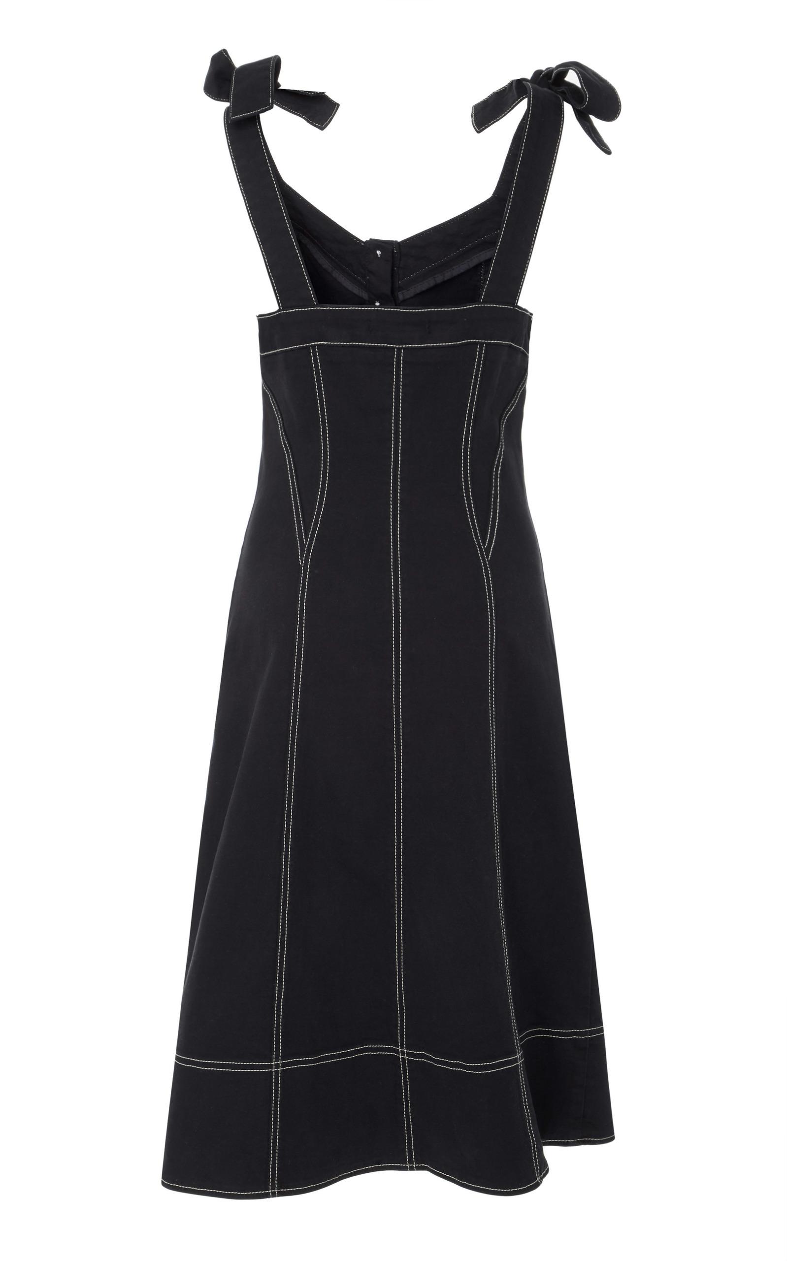 7547c65e5d2 Ulla JohnsonEmory Tailored Shoulder Tie Denim Dress. CLOSE. Loading. Loading