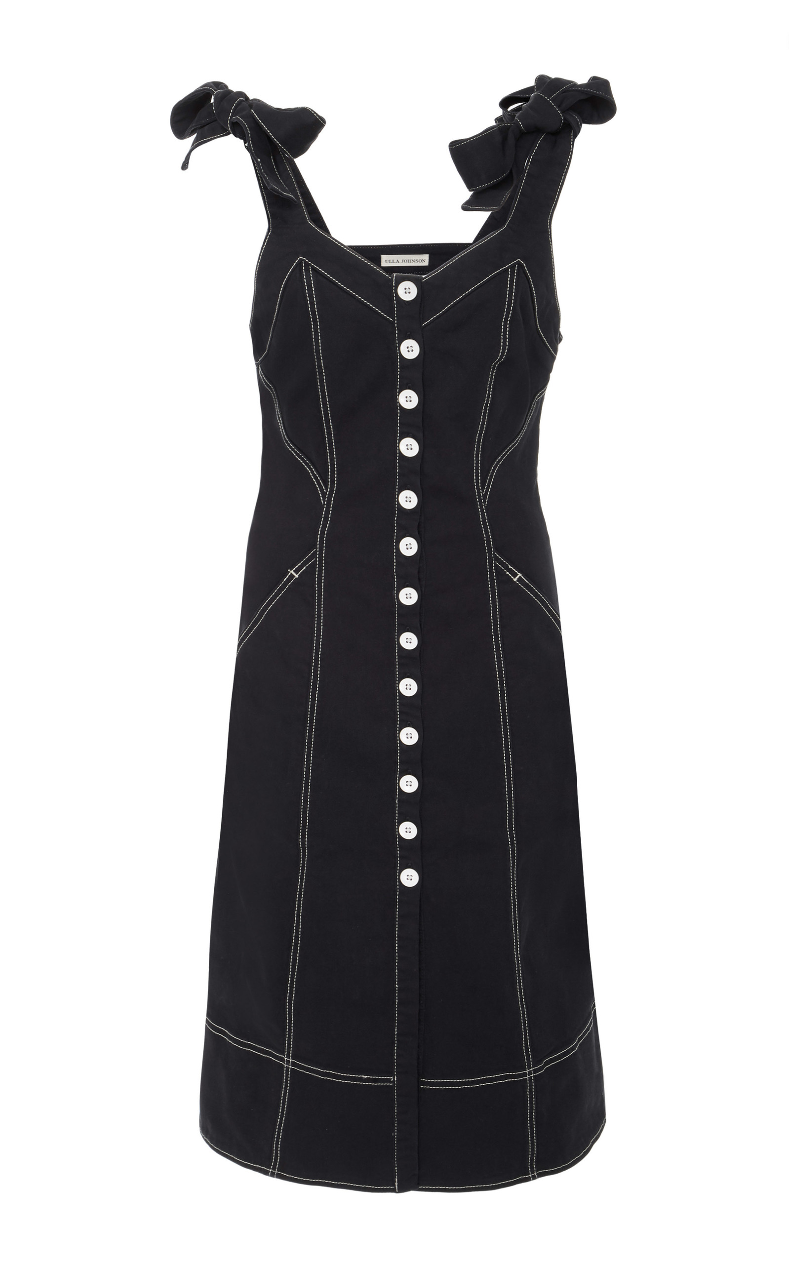 0f9480bcecc Ulla JohnsonEmory Tailored Shoulder Tie Denim Dress. CLOSE. Loading