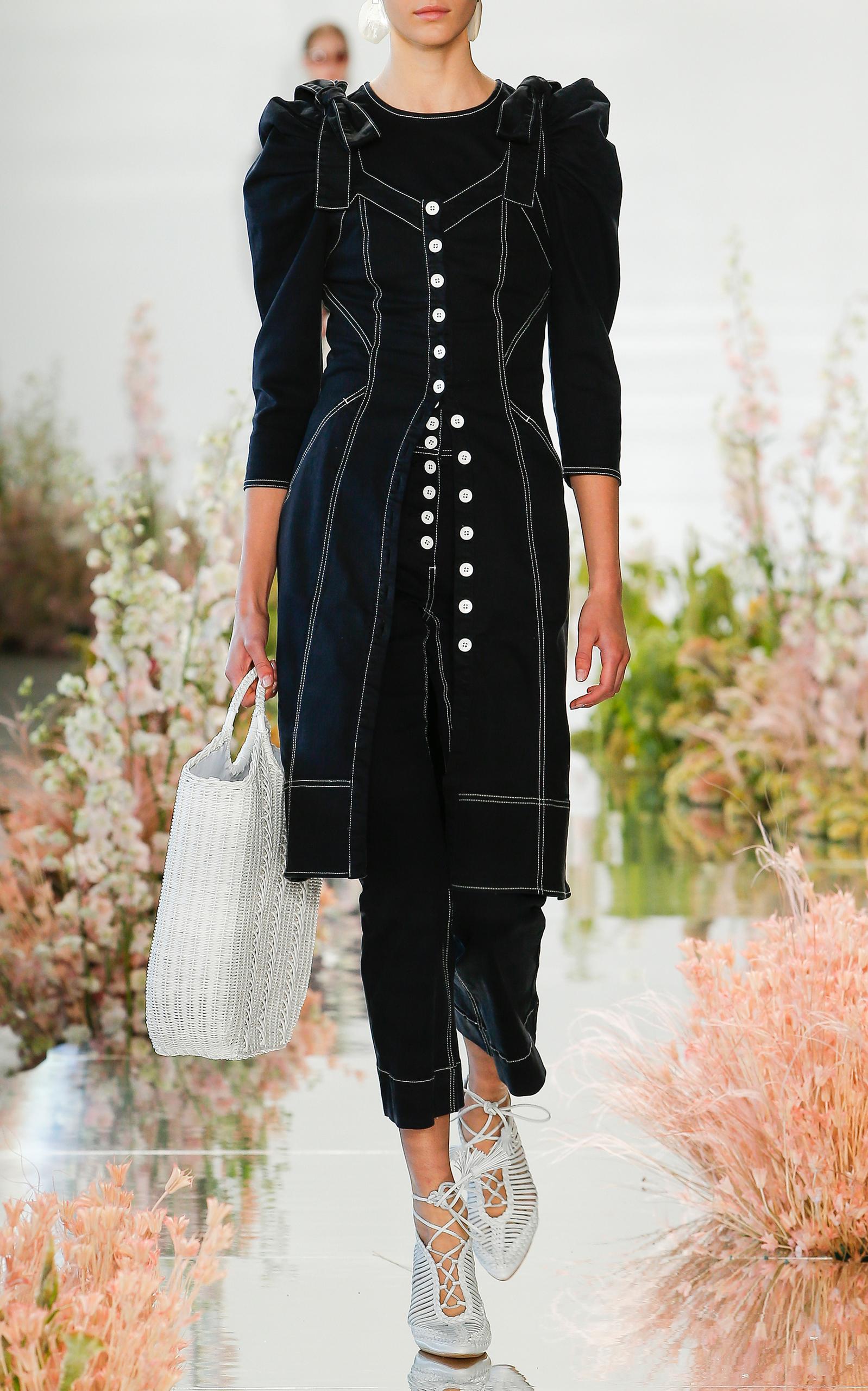 e7172223a59 Ulla JohnsonEmory Tailored Shoulder Tie Denim Dress. CLOSE. Loading.  Loading. Loading. Loading